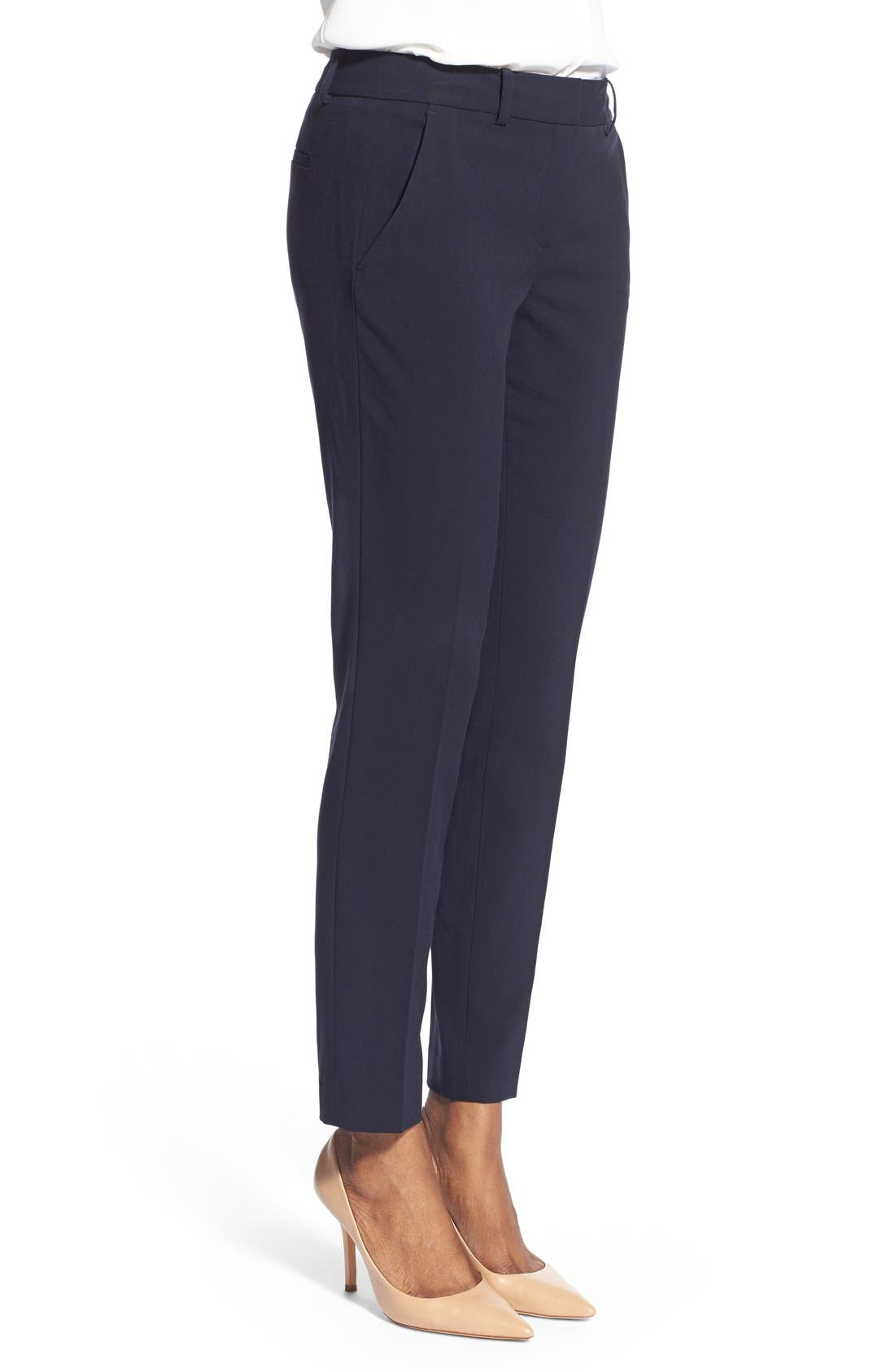 Marlena Ankle Pants,                             Alternate thumbnail 3, color,                             Navy