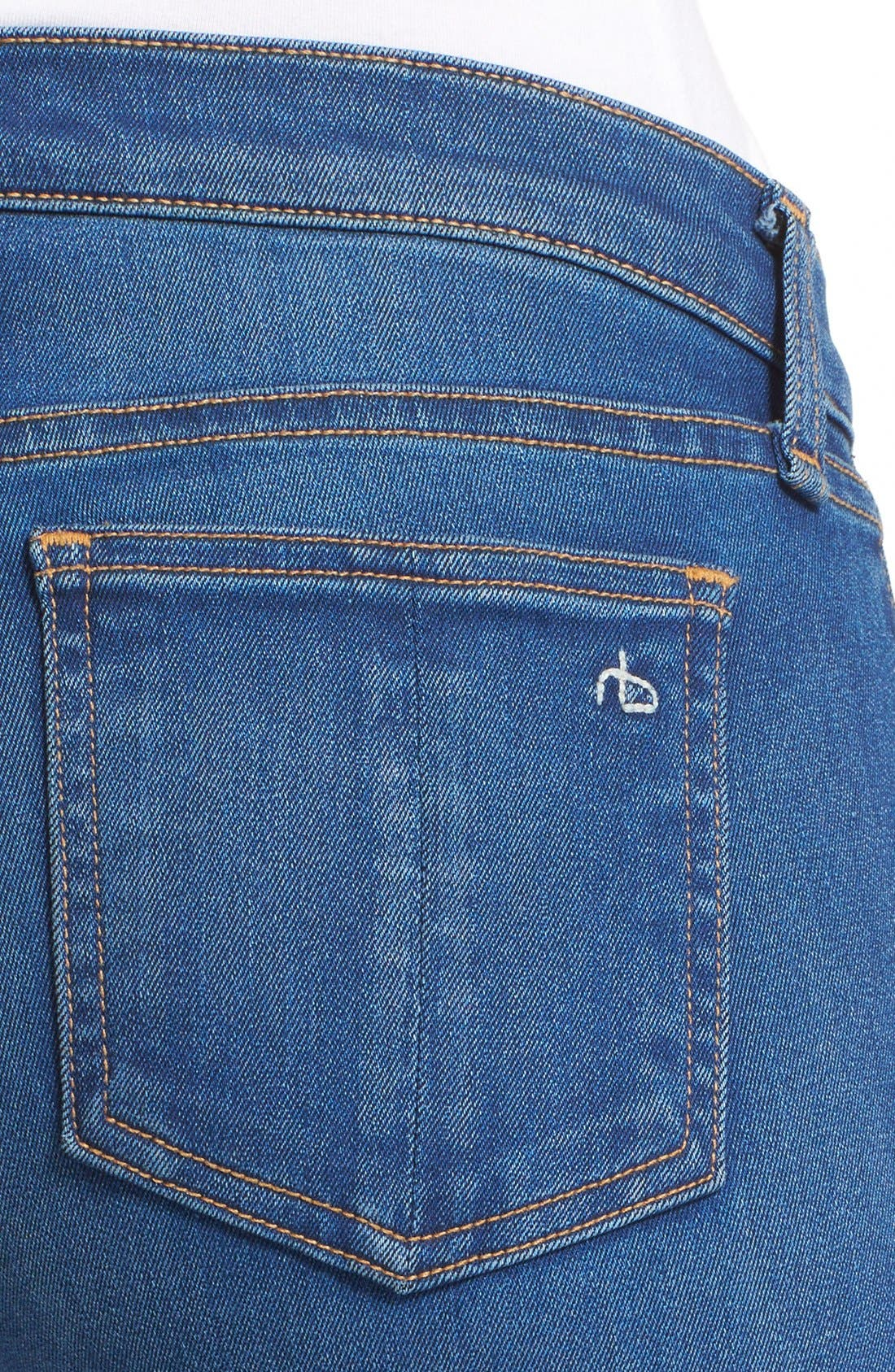 Alternate Image 4  - rag & bone/JEAN Bell Bottom Jeans (Houston)