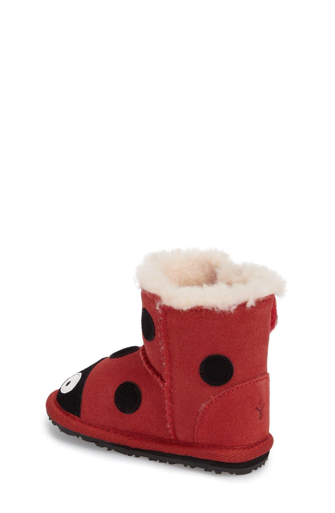 Alternate Image 2  - EMU Australia 'Ladybug' Boot (Baby & Walker)