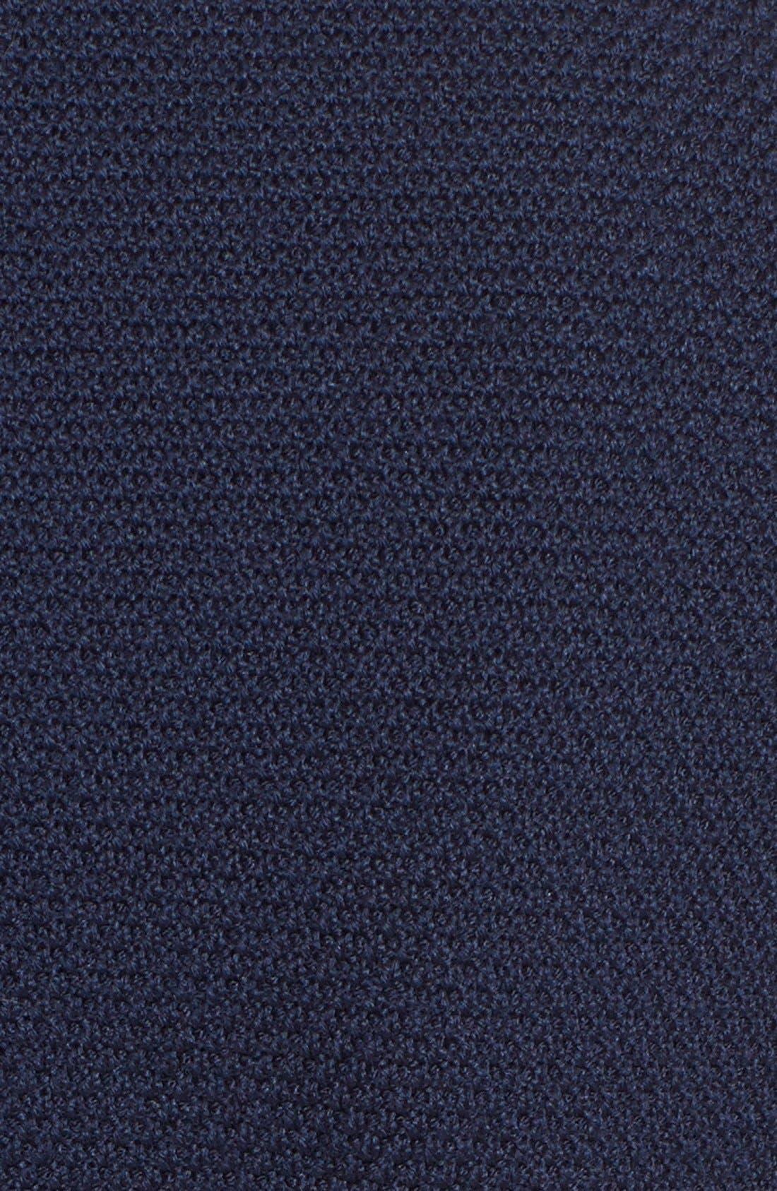 Micro Bouclé Sheath Dress,                             Alternate thumbnail 3, color,                             Navy
