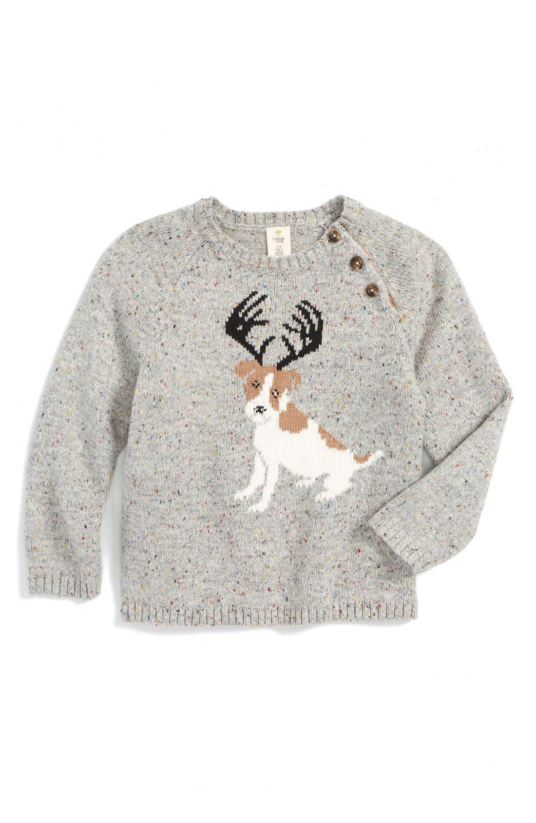 Main Image - Tucker + Tate 'Reindeer Dog' Intarsia Knit Sweater (Baby Boys)