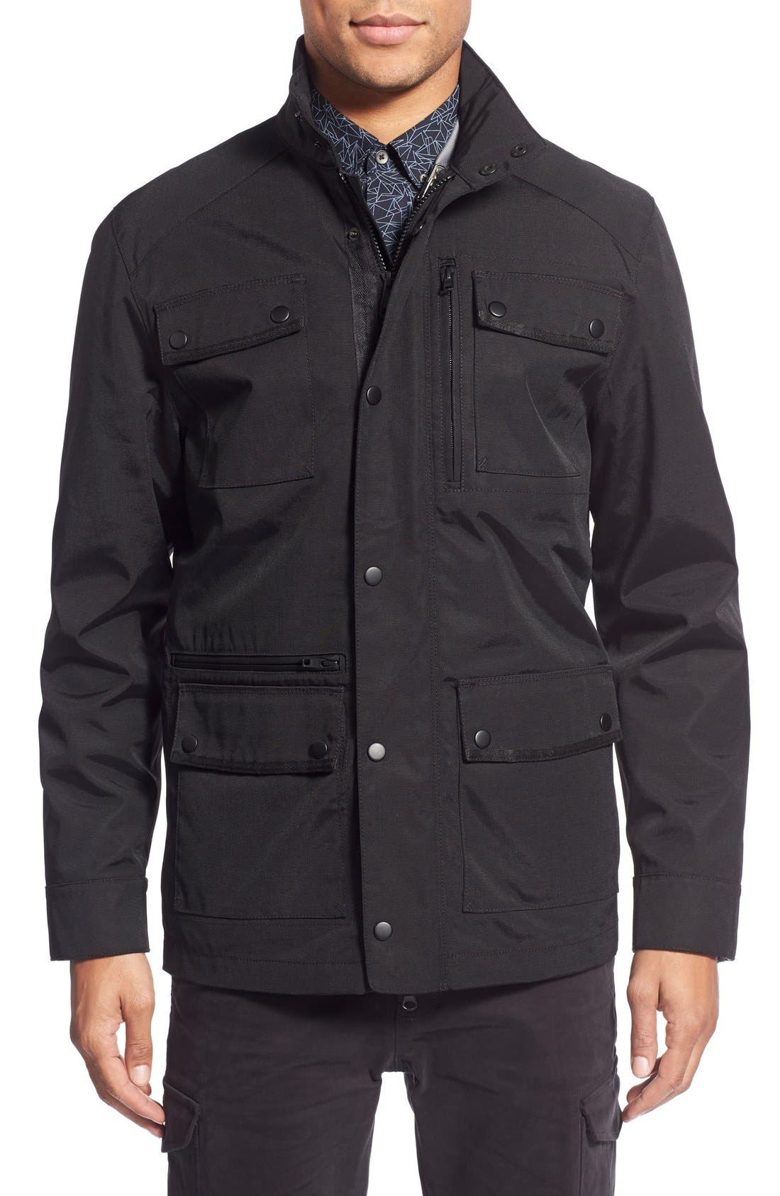 'Ethan' 3-in-1 Field Jacket,                             Main thumbnail 1, color,                             Black