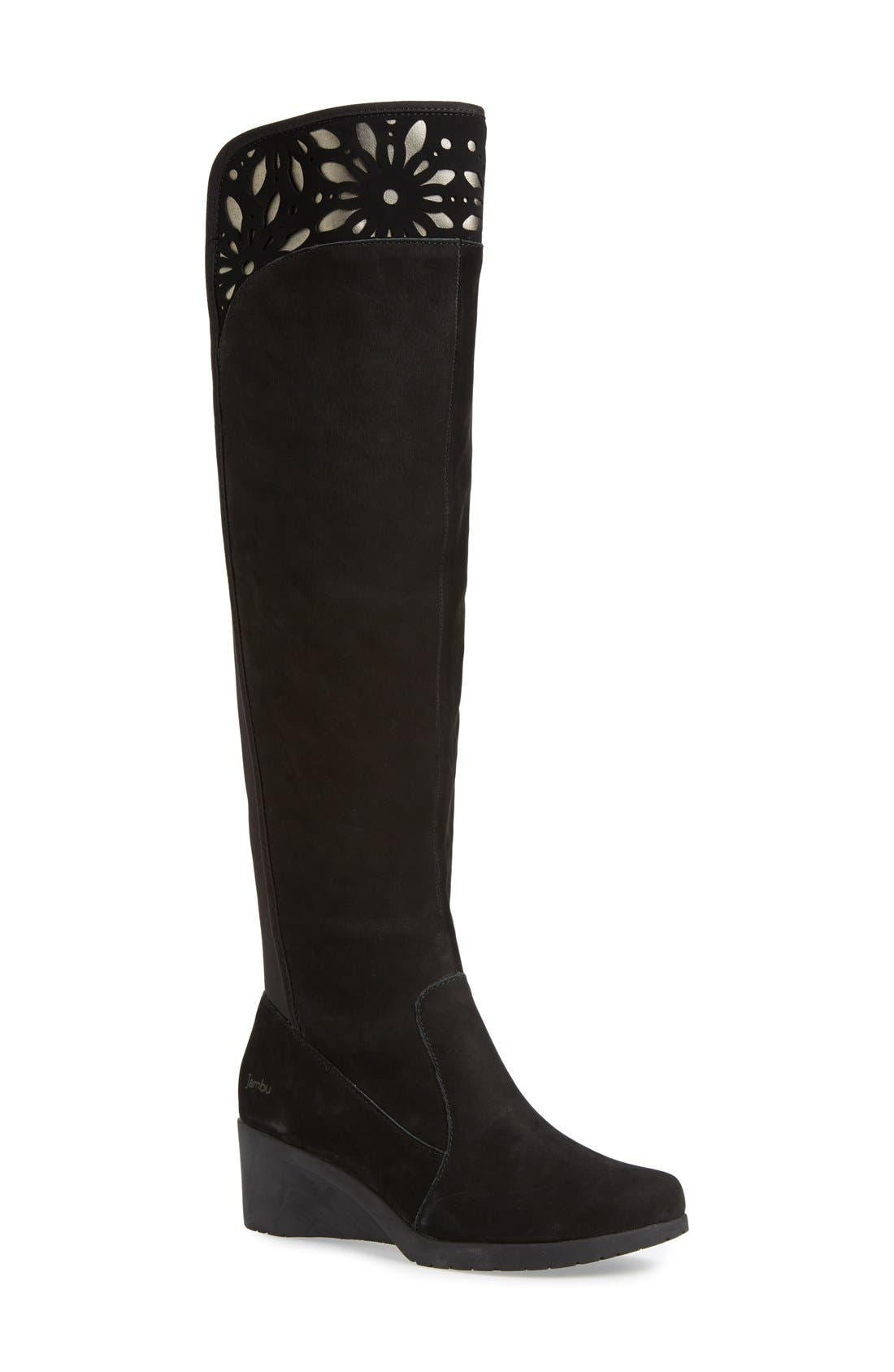 Main Image - Jambu'Natalia' CutoutDetail Water ResistantOver the Knee Boot (Women)