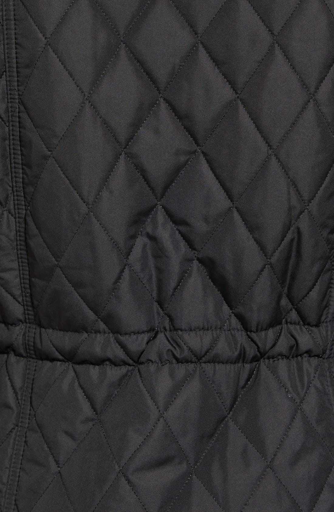 'Millfire' Hooded Quilted Jacket,                             Alternate thumbnail 5, color,                             Black