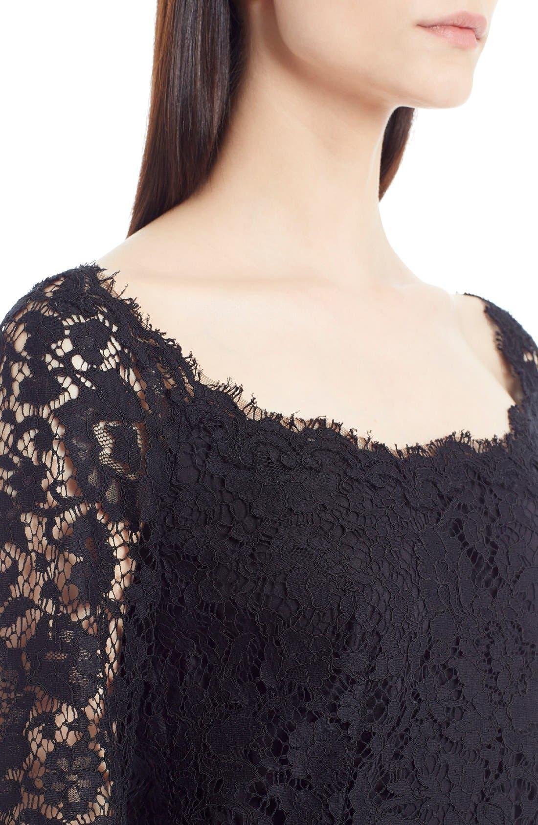 Alternate Image 5  - Dolce&Gabbana Scoop Neck Lace Dress
