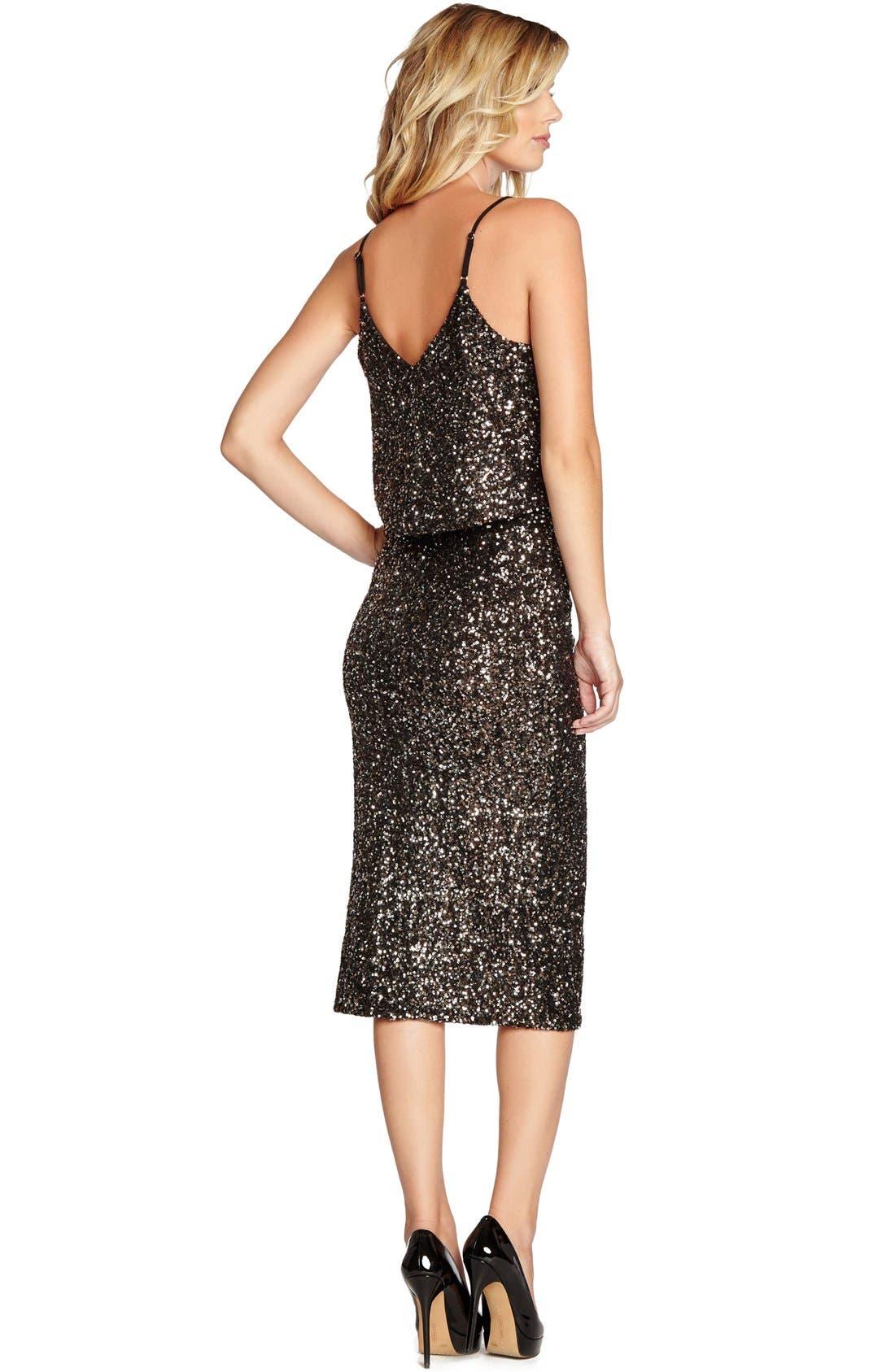 Alternate Image 2  - Dress the Population 'Alessandra' Sequin Midi Skirt