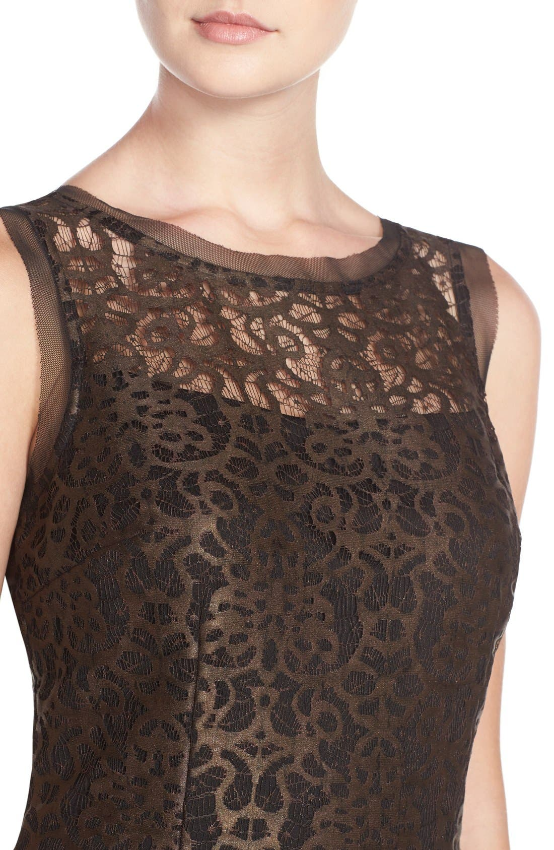 Alternate Image 4  - Julia Jordan Metallic Lace Sheath Dress