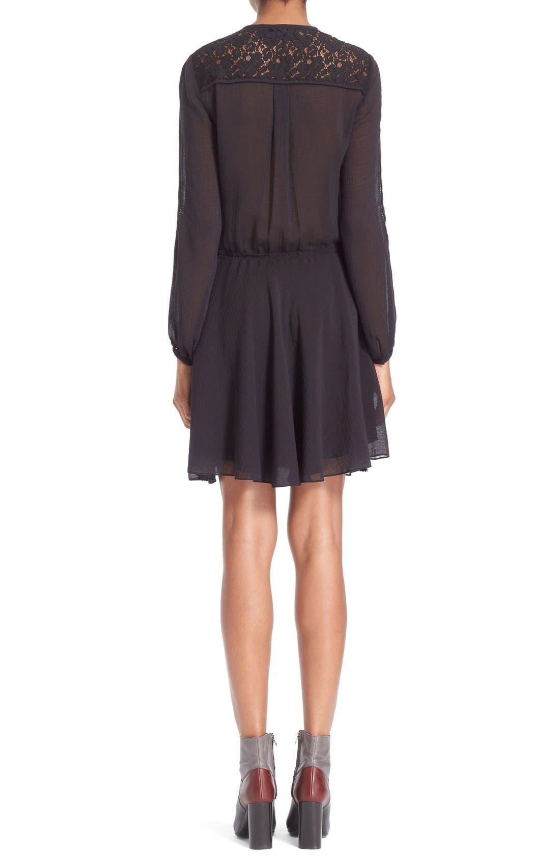 Alternate Image 2  - Derek Lam 10 Crosby Lace Inset Dress