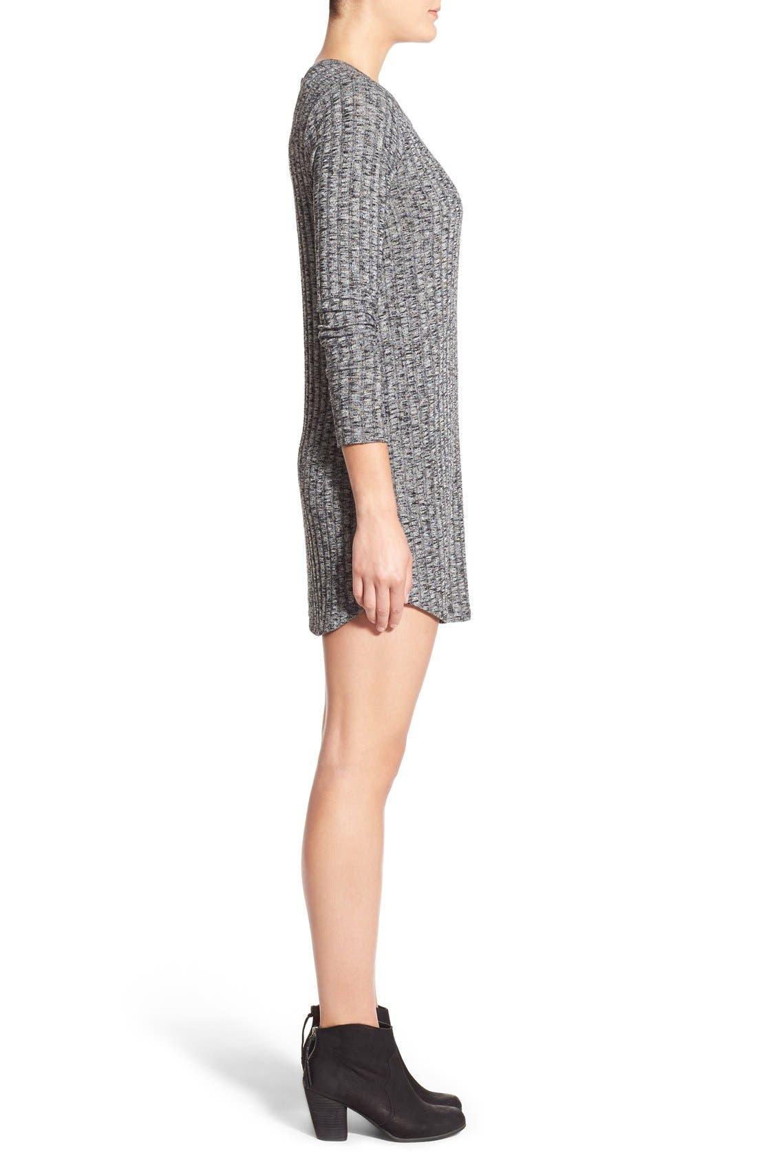 Alternate Image 4  - Everly Ribbed Long Sleeve Sweater Dress