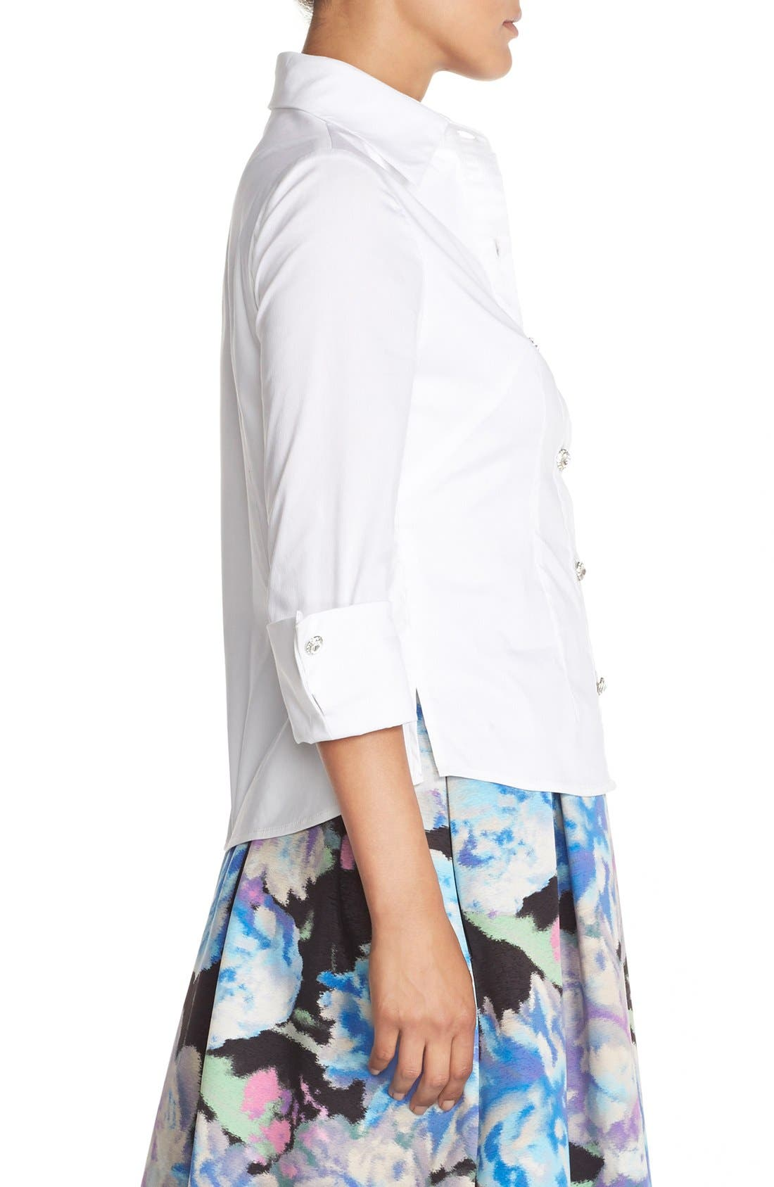 Alternate Image 4  - Eliza J Cotton Poplin Blouse