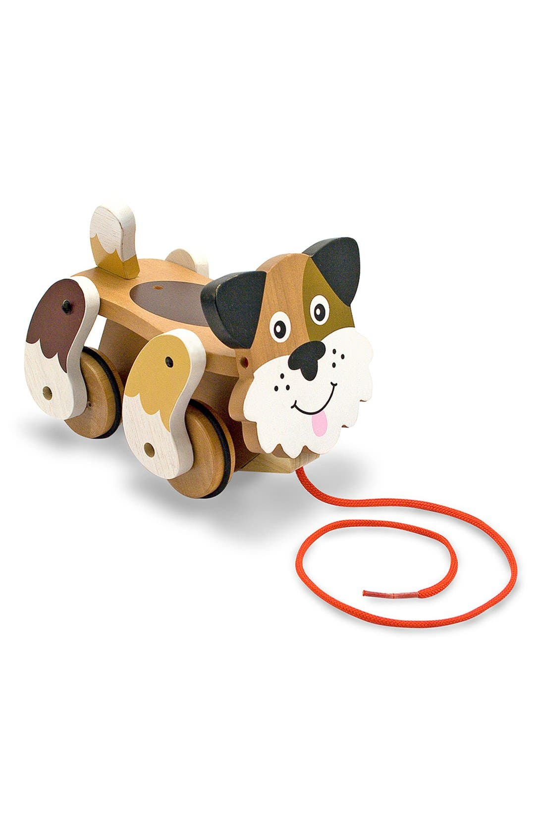 'Playful Puppy' Pull Toy,                         Main,                         color, Brown
