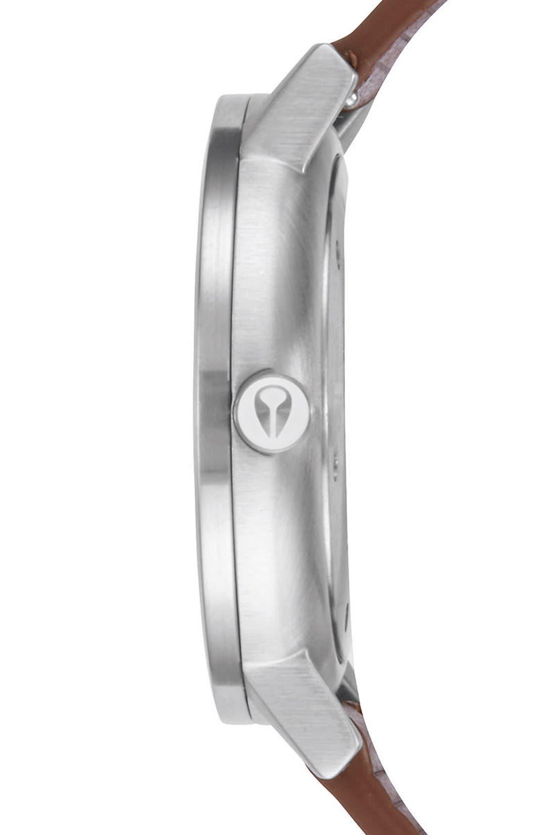 Alternate Image 3  - Nixon 'Rollo' Leather Strap Watch, 42mm