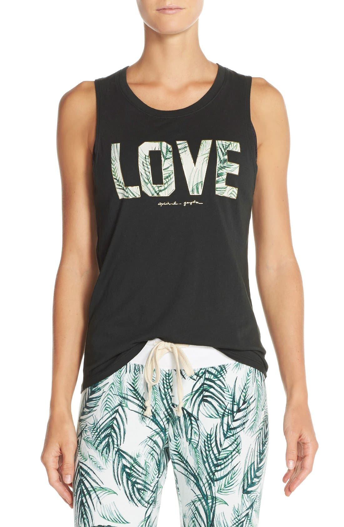 Main Image - Spiritual Gangster 'Palm Love' Supima® Cotton & Modal Tank