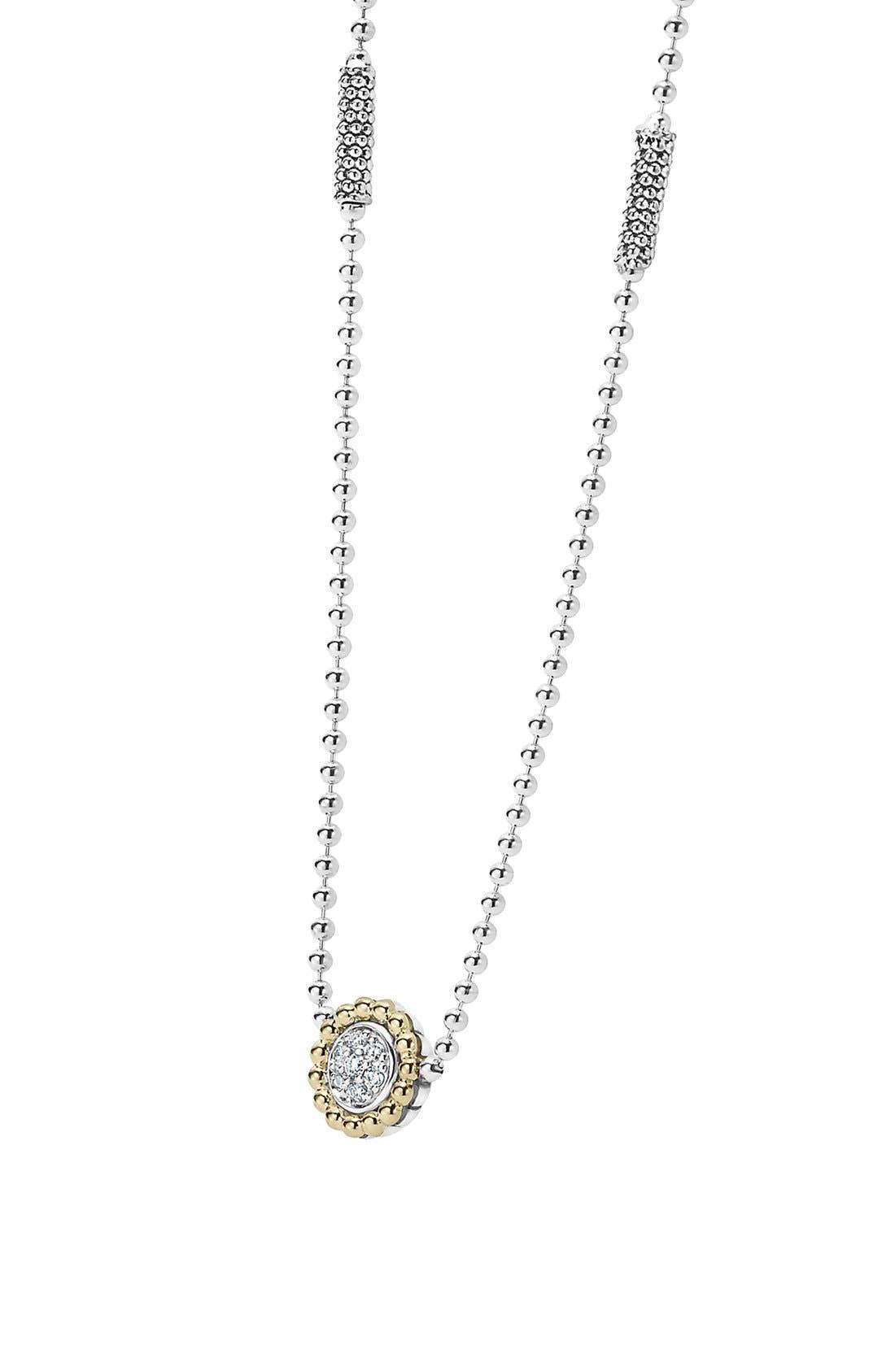 Alternate Image 3  - LAGOS 'Caviar' Circle Pendant Necklace