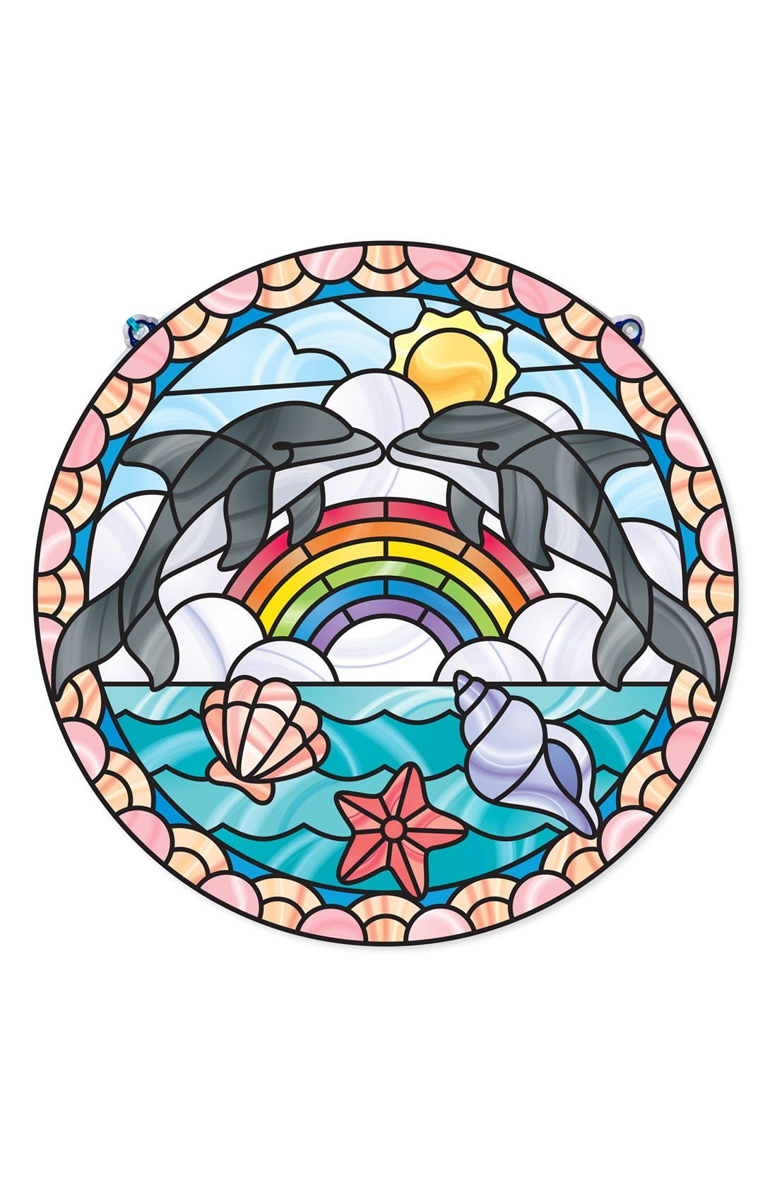 Melissa & Doug 'Stained Glass Made Easy - Dolphins' Peel & Press Sticker Kit
