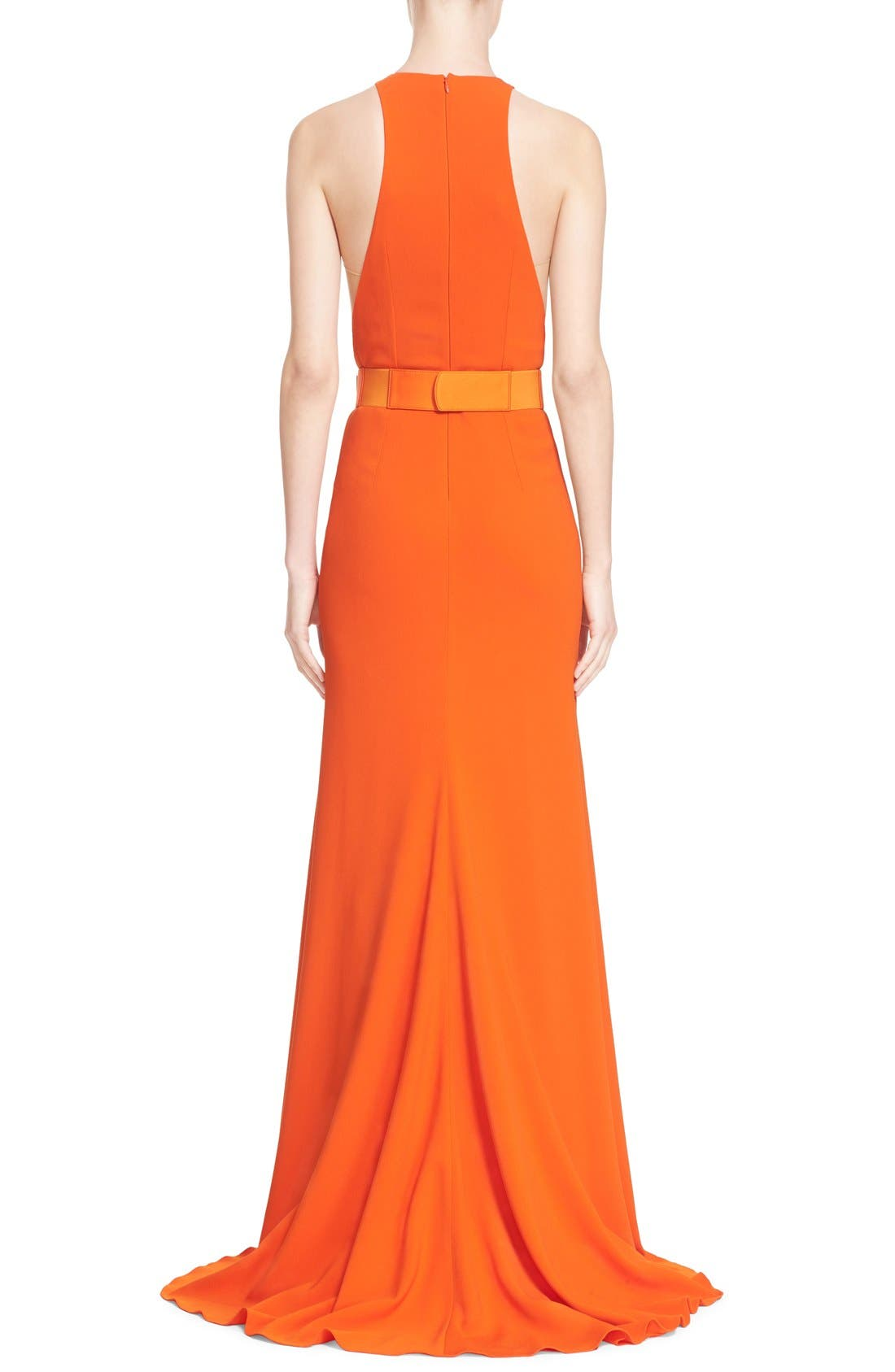 Alternate Image 2  - Stella McCartney Belted Stretch Cady Gown