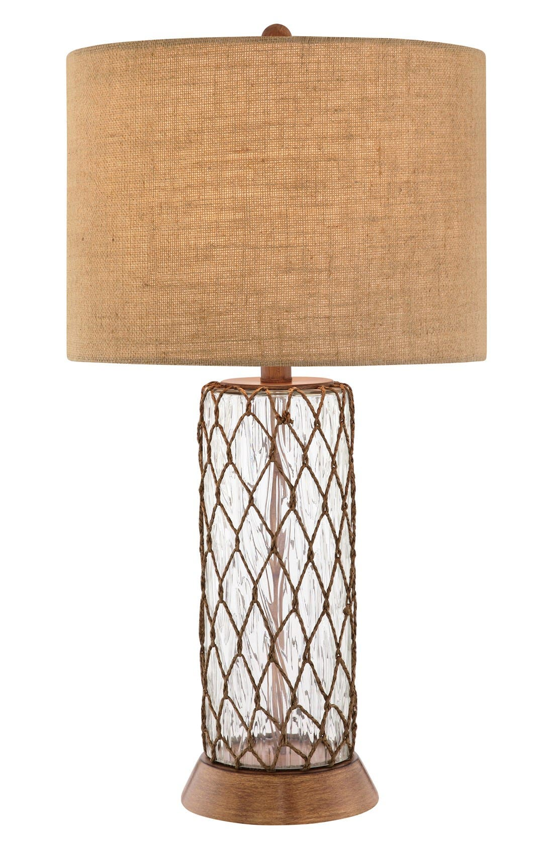 Clear Glass Table Lamp,                             Main thumbnail 1, color,                             Clear Glass/ Bronze Finish