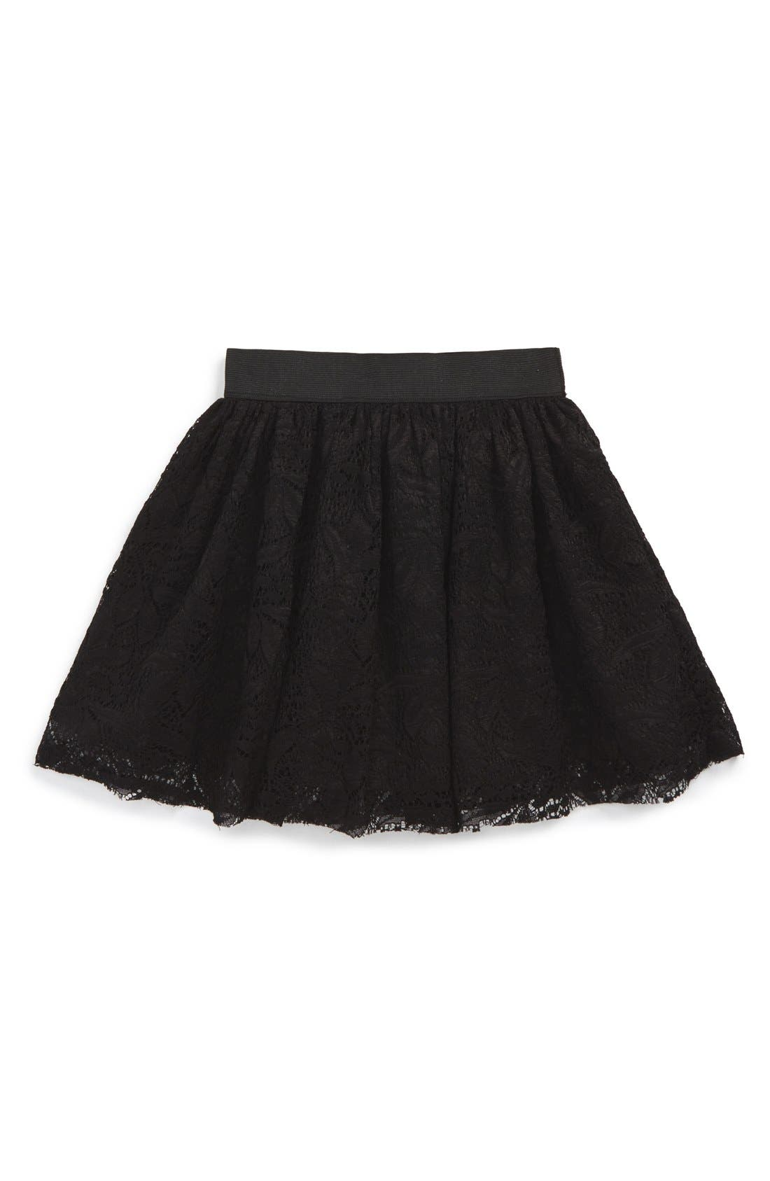 Alternate Image 1 Selected - Pippa & Julie Lace Skirt (Toddler Girls & Little Girls)