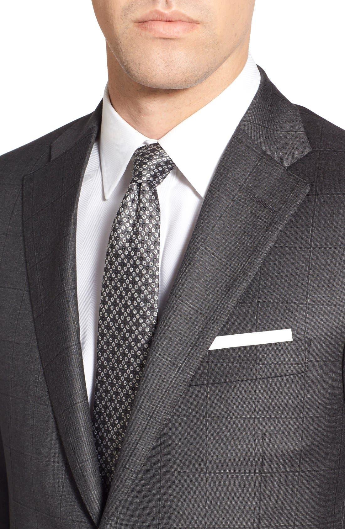 Alternate Image 4  - Hickey Freeman Classic B Fit Windowpane Wool Suit