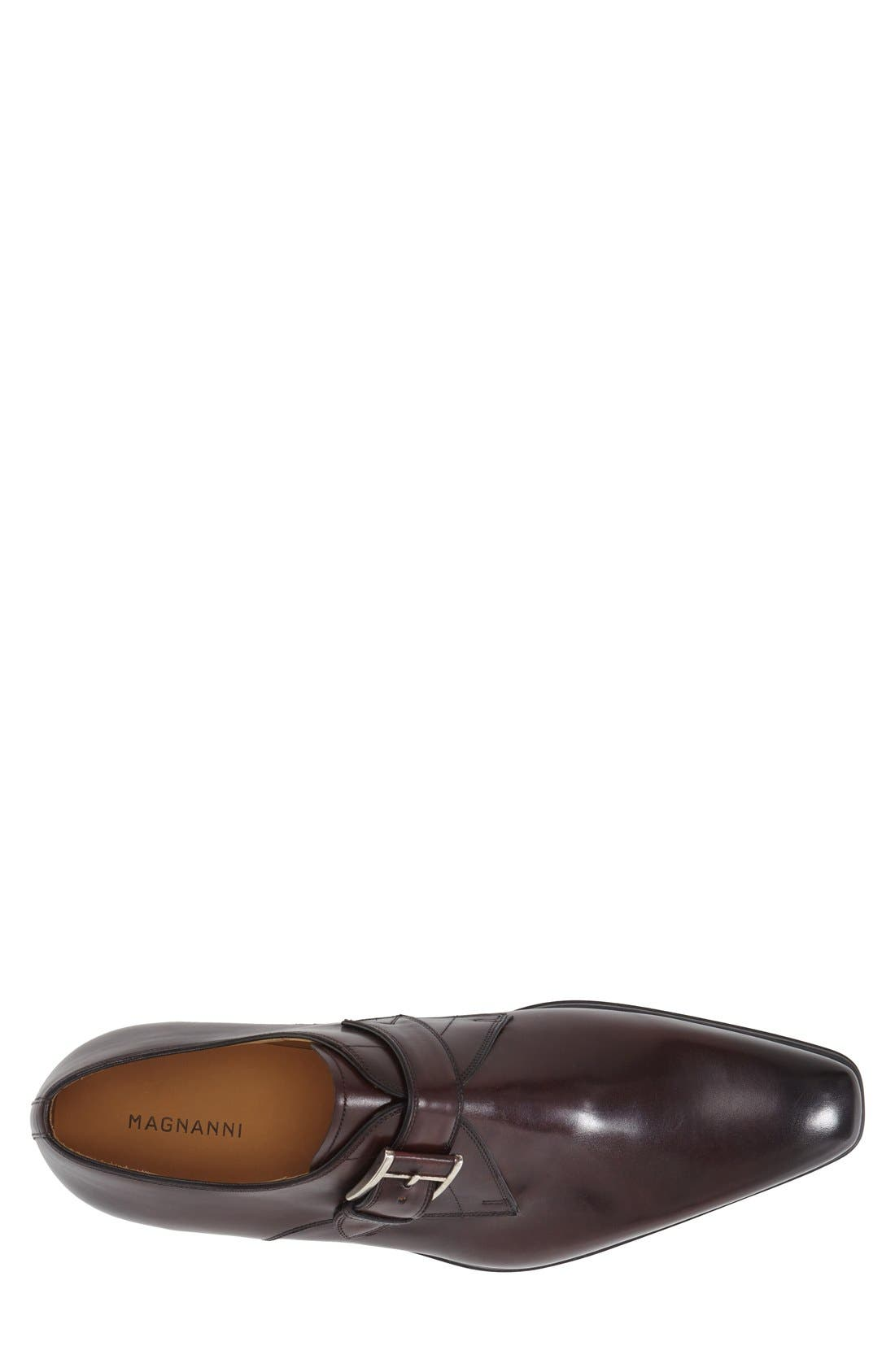 'Hugo' Monk Strap Slip-On,                             Alternate thumbnail 3, color,                             Burgundy