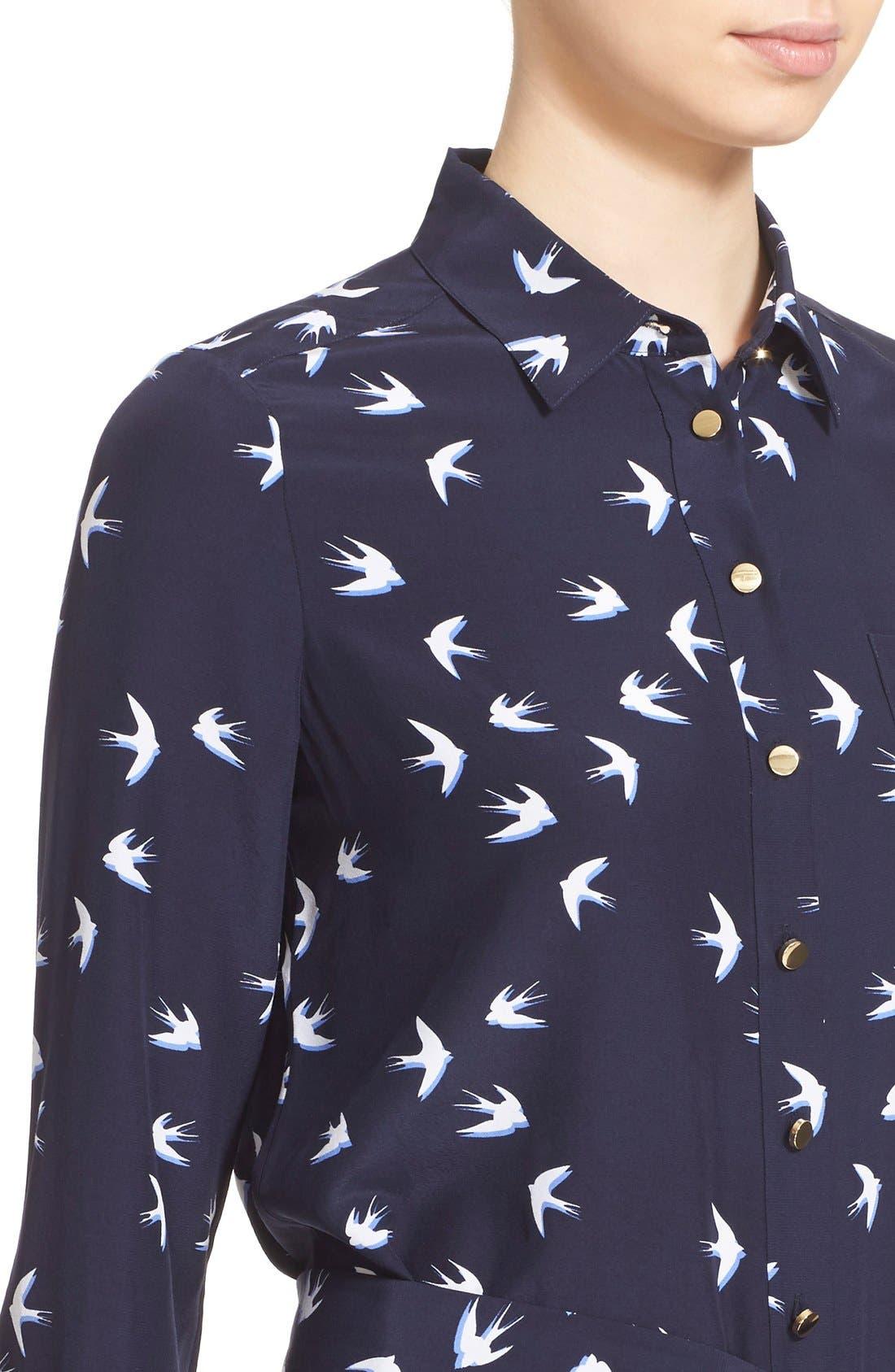 Alternate Image 4  - kate spade new york 'winter' print shirtdress