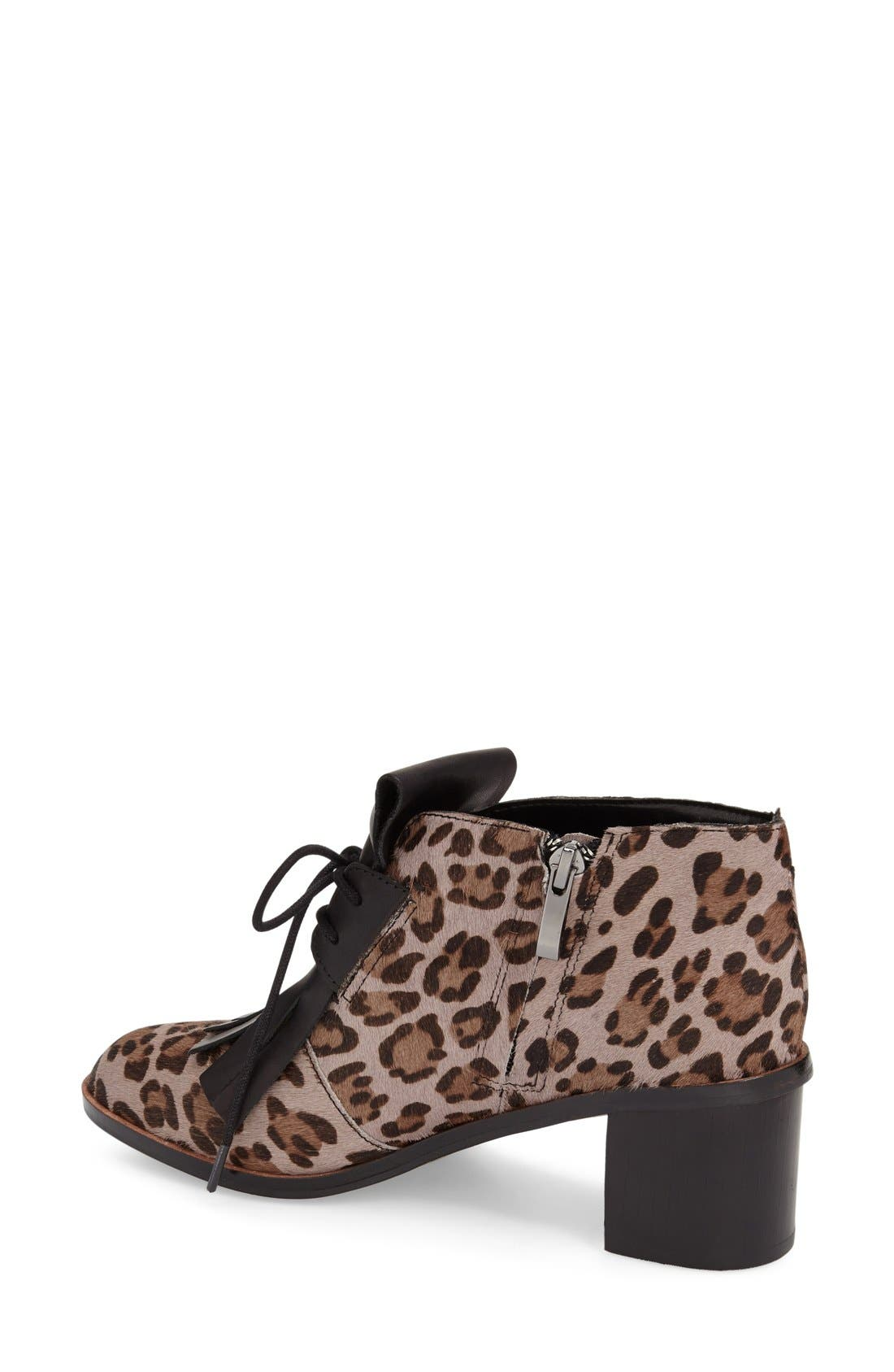 Alternate Image 2  - French Connection 'Clair' Genuine Calf Hair Lace-Up Bootie (Women)