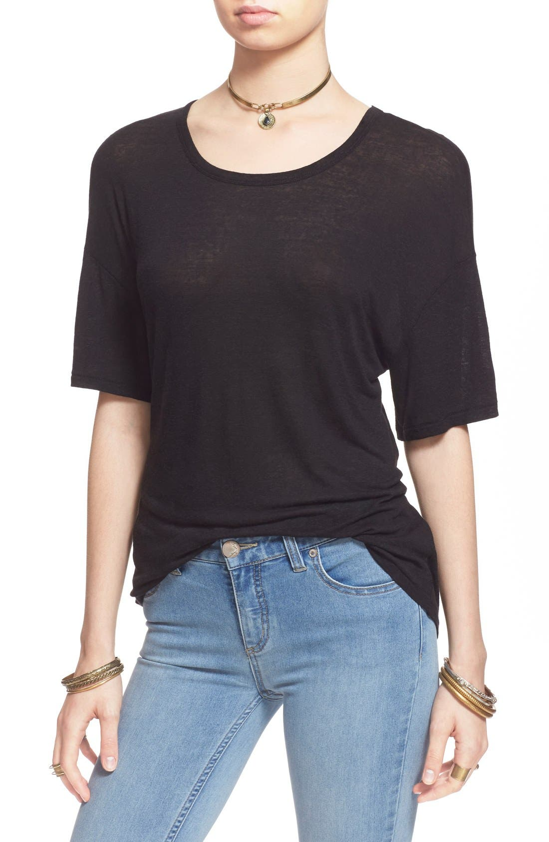 Alternate Image 1 Selected - Free People 'Gemma' Back Wrap Tee