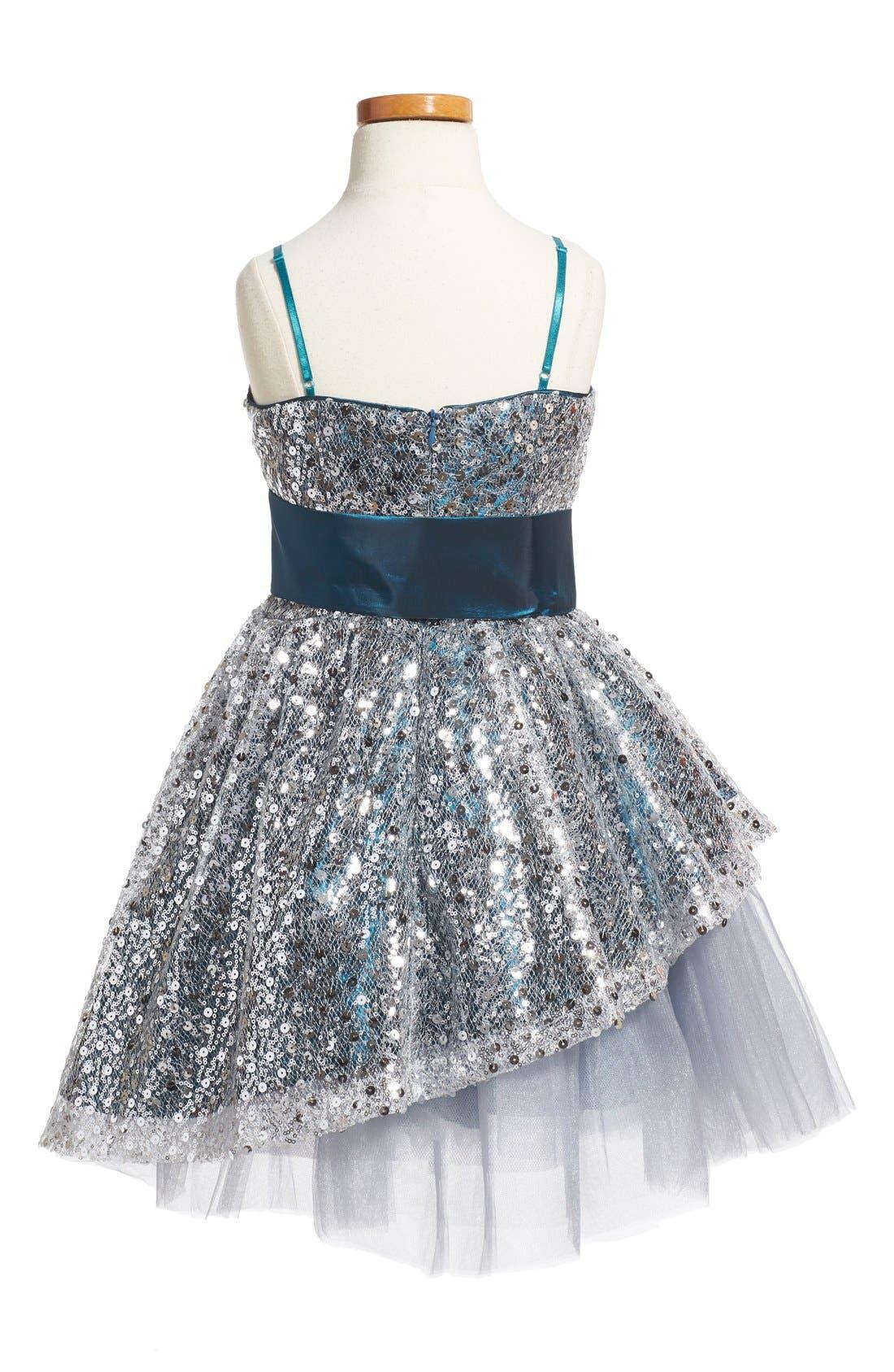 Alternate Image 2  - Un Deux Trois Sequin Dress (Big Girls)