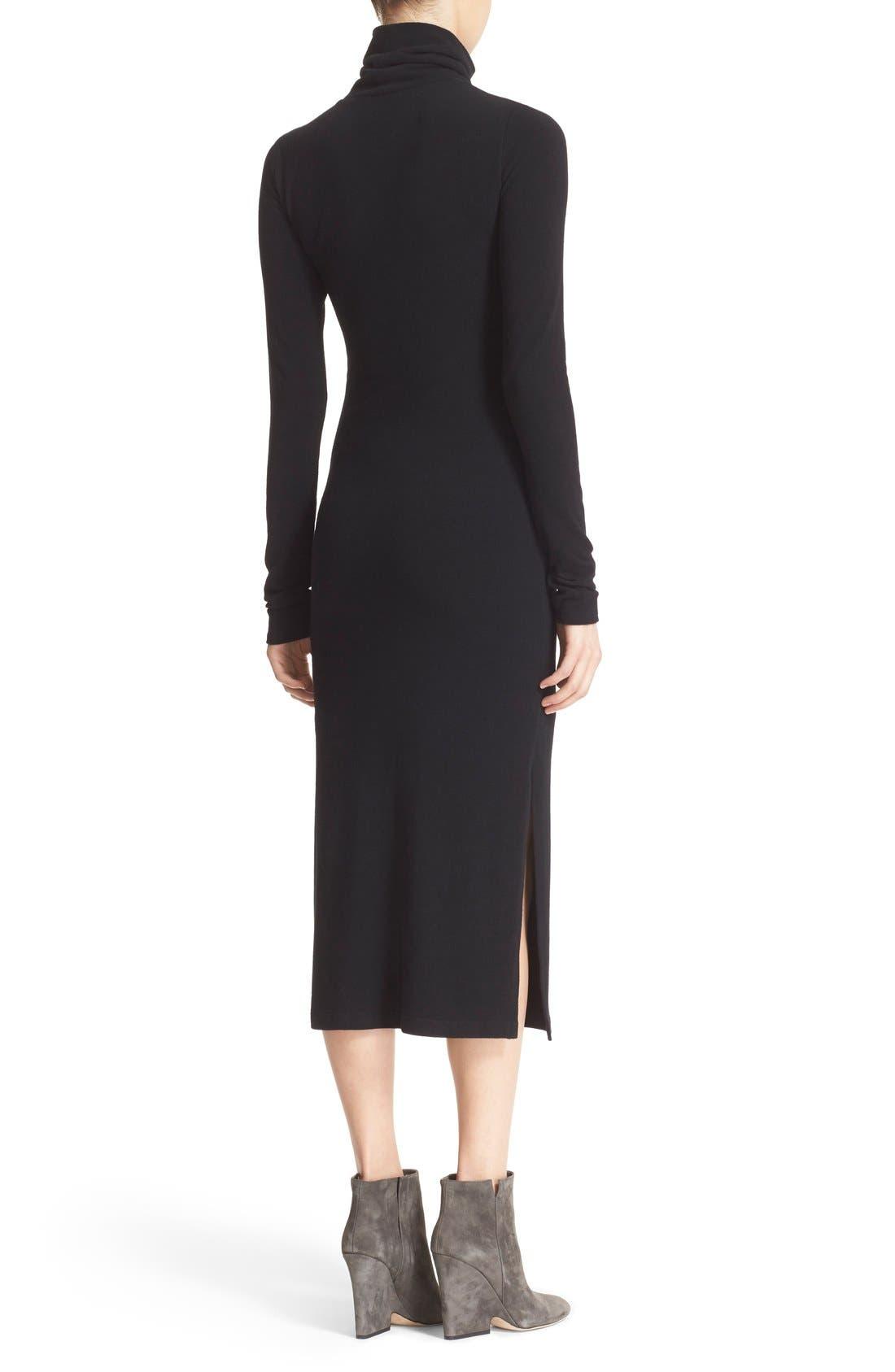 Alternate Image 2  - Alice + Olivia 'Dev' Split Hem Midi Dress
