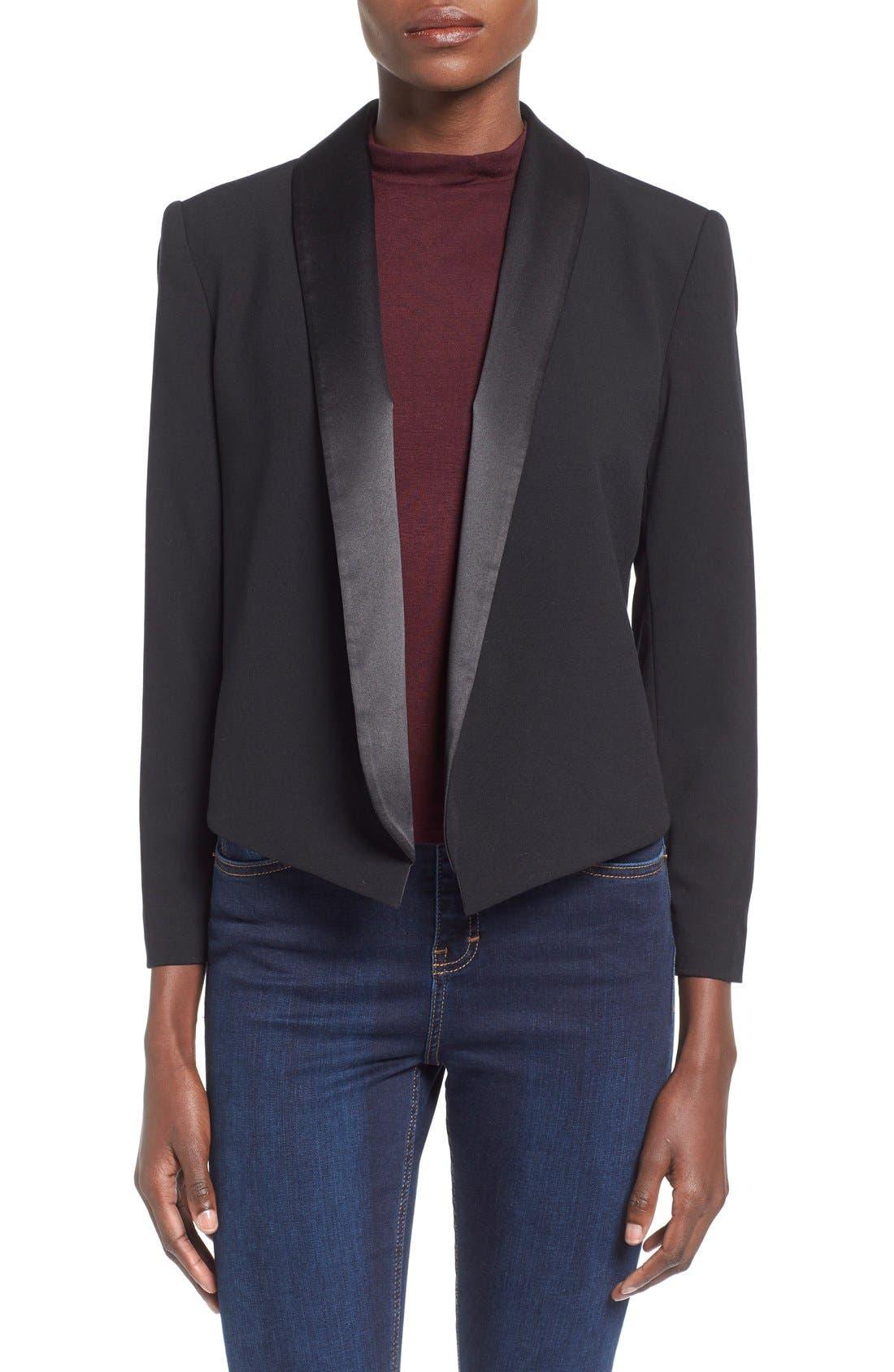 Alternate Image 1 Selected - Mural Open Front Tuxedo Blazer