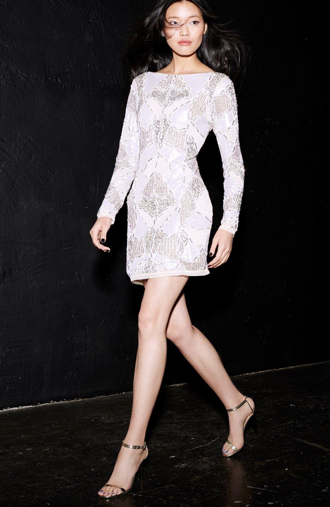 Alternate Image 6  - Topshop 'Gigi' Embellished Body-Con Dress (Regular & Petite)