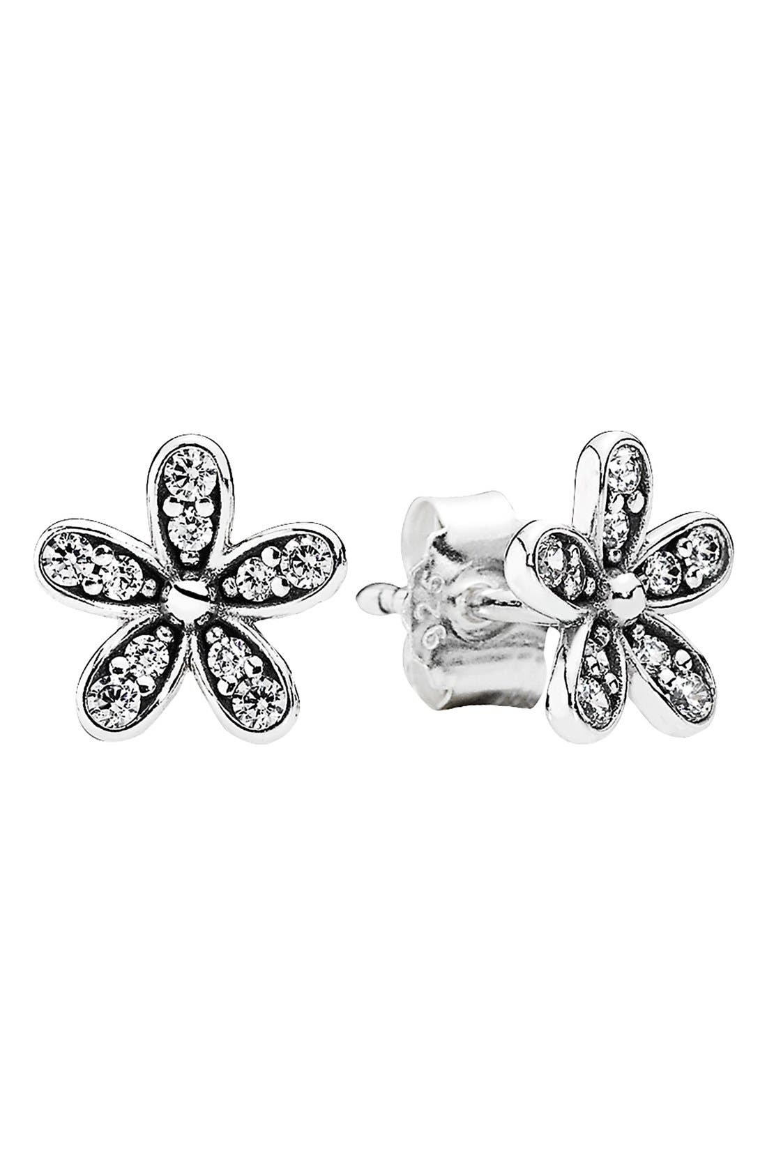 Main Image - PANDORA 'Dazzling Daisy' Mini Stud Earrings