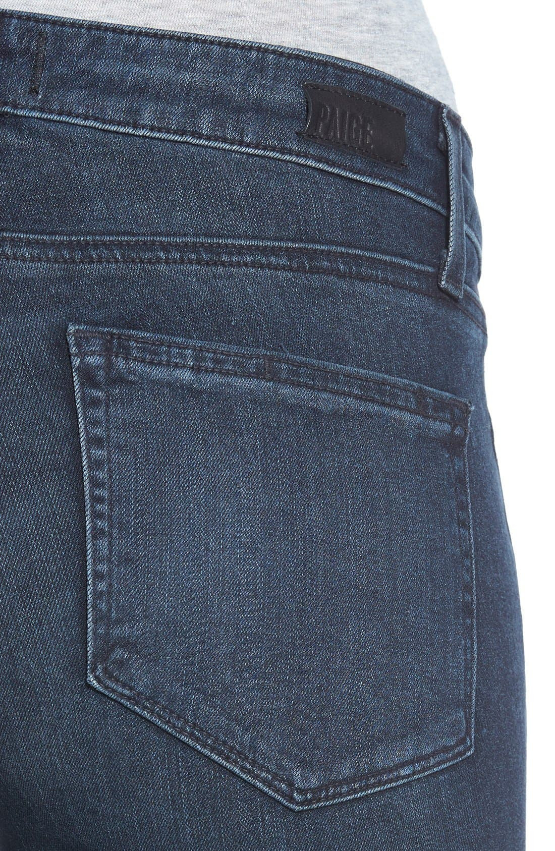 Denim 'Jill' Ultra Skinny Jeans,                             Alternate thumbnail 4, color,                             Reed No Whiskers