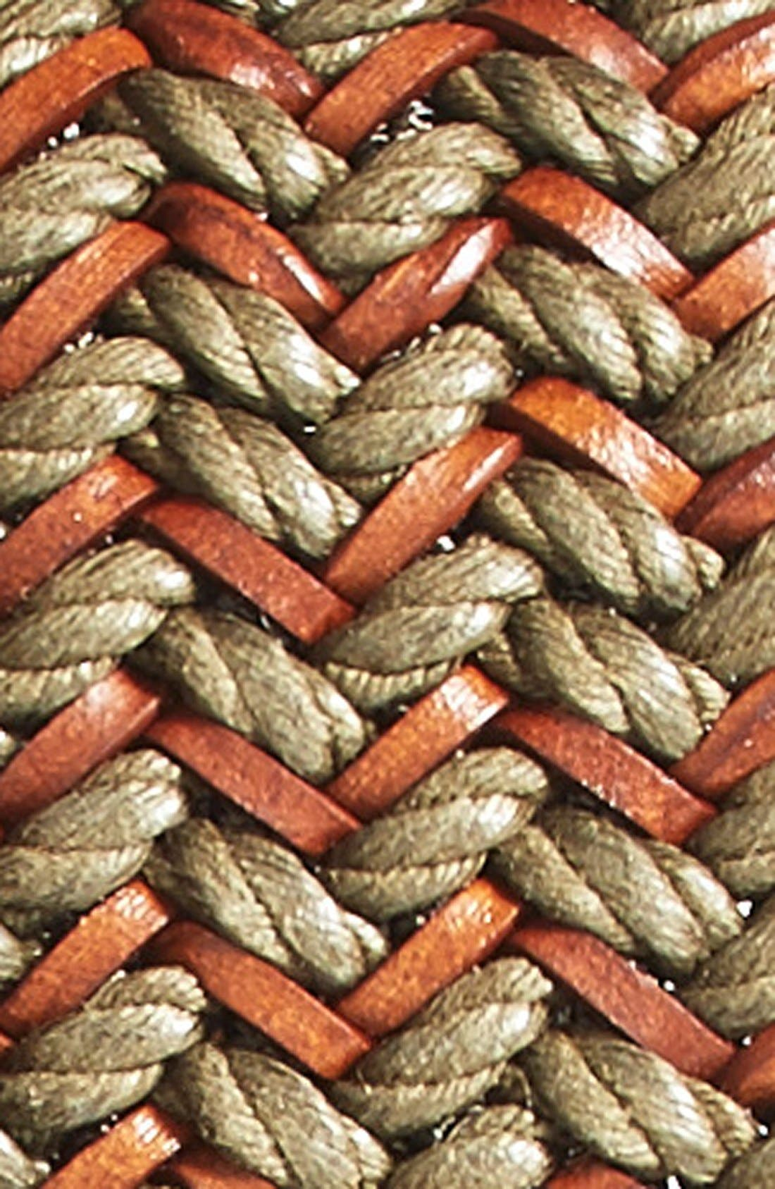 Alternate Image 2  - Torino Belts Woven & Leather Belt