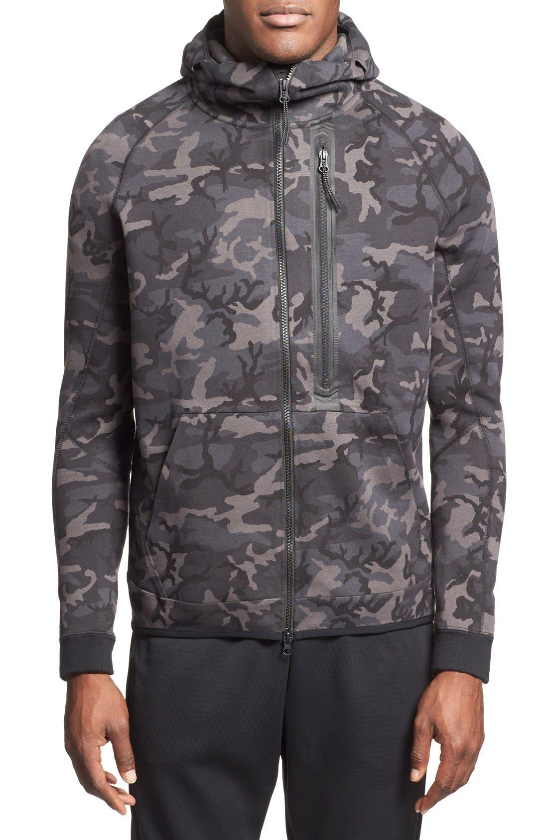 nike tech fleece camo hoodie