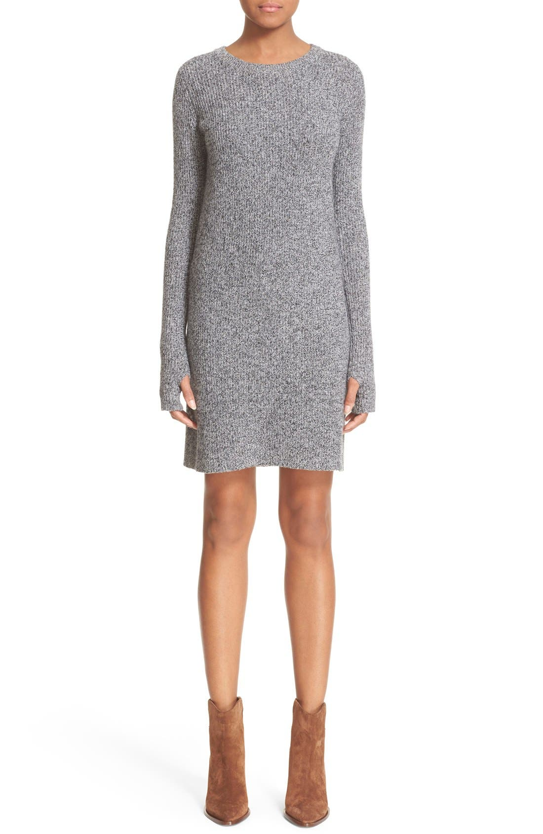 Alternate Image 1 Selected - Current/Elliott 'The Easy Sweater' Wool & Cashmere Sweater Dress