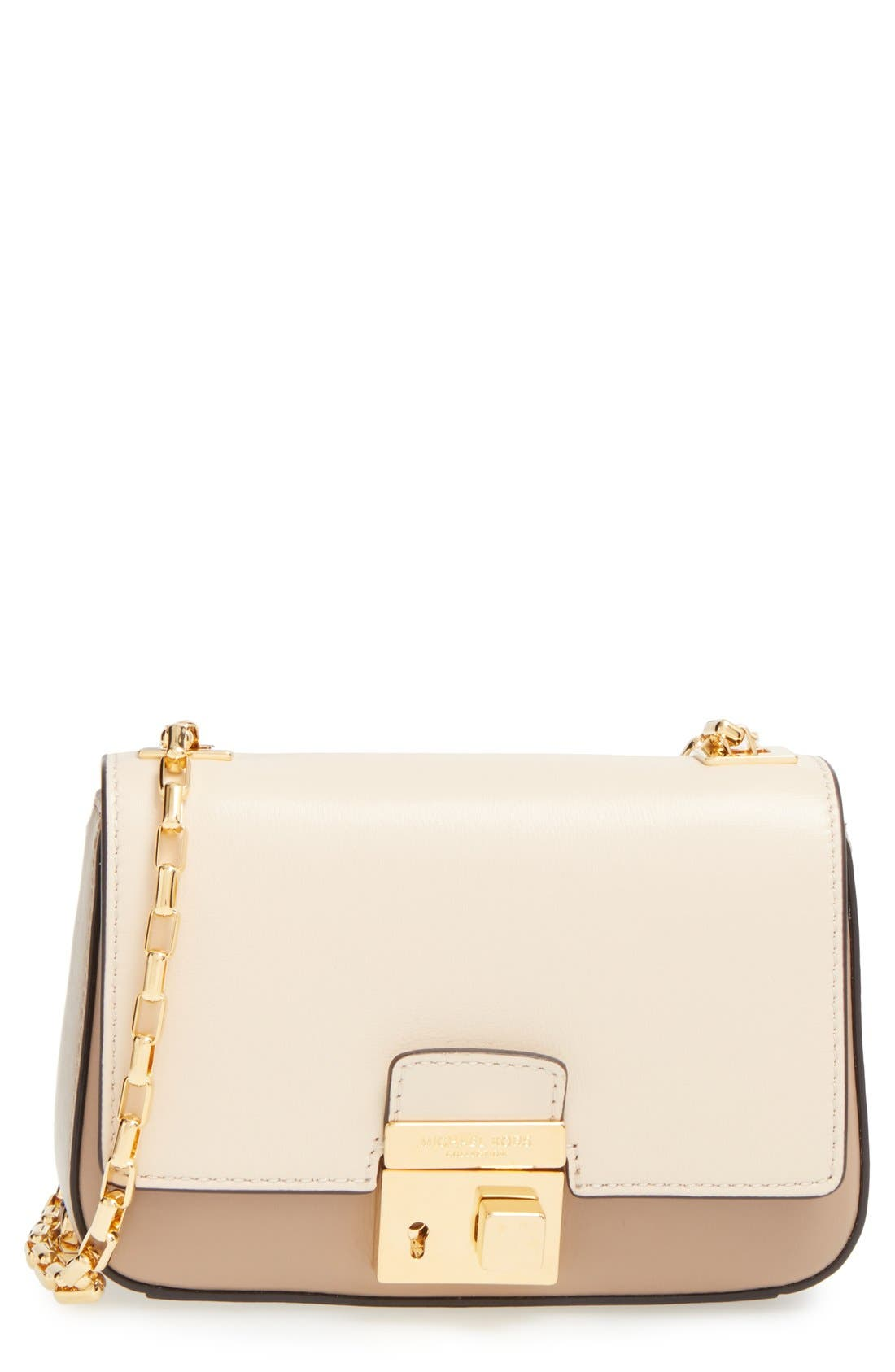 Alternate Image 1 Selected - Michael Kors 'Small Gia' Chain Strap Leather Shoulder Bag