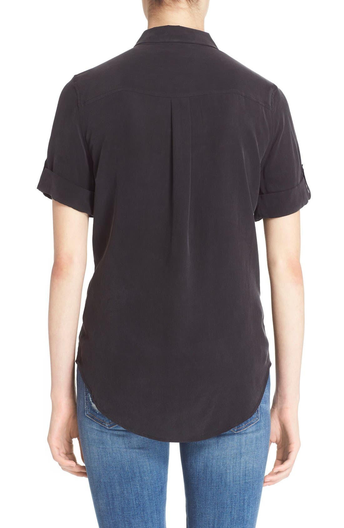 Alternate Image 2  - Equipment Slim Signature Short Sleeve Silk Shirt