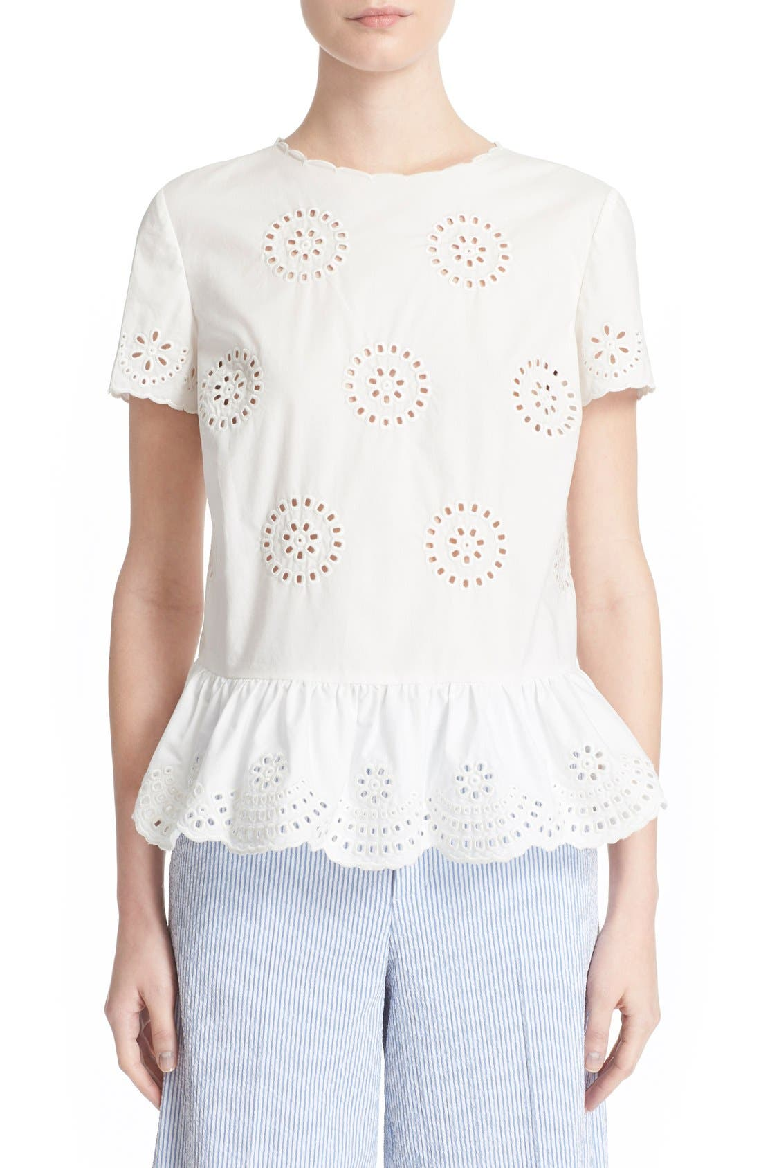 Alternate Image 1 Selected - RED Valentino Sangallo Lace Blouse