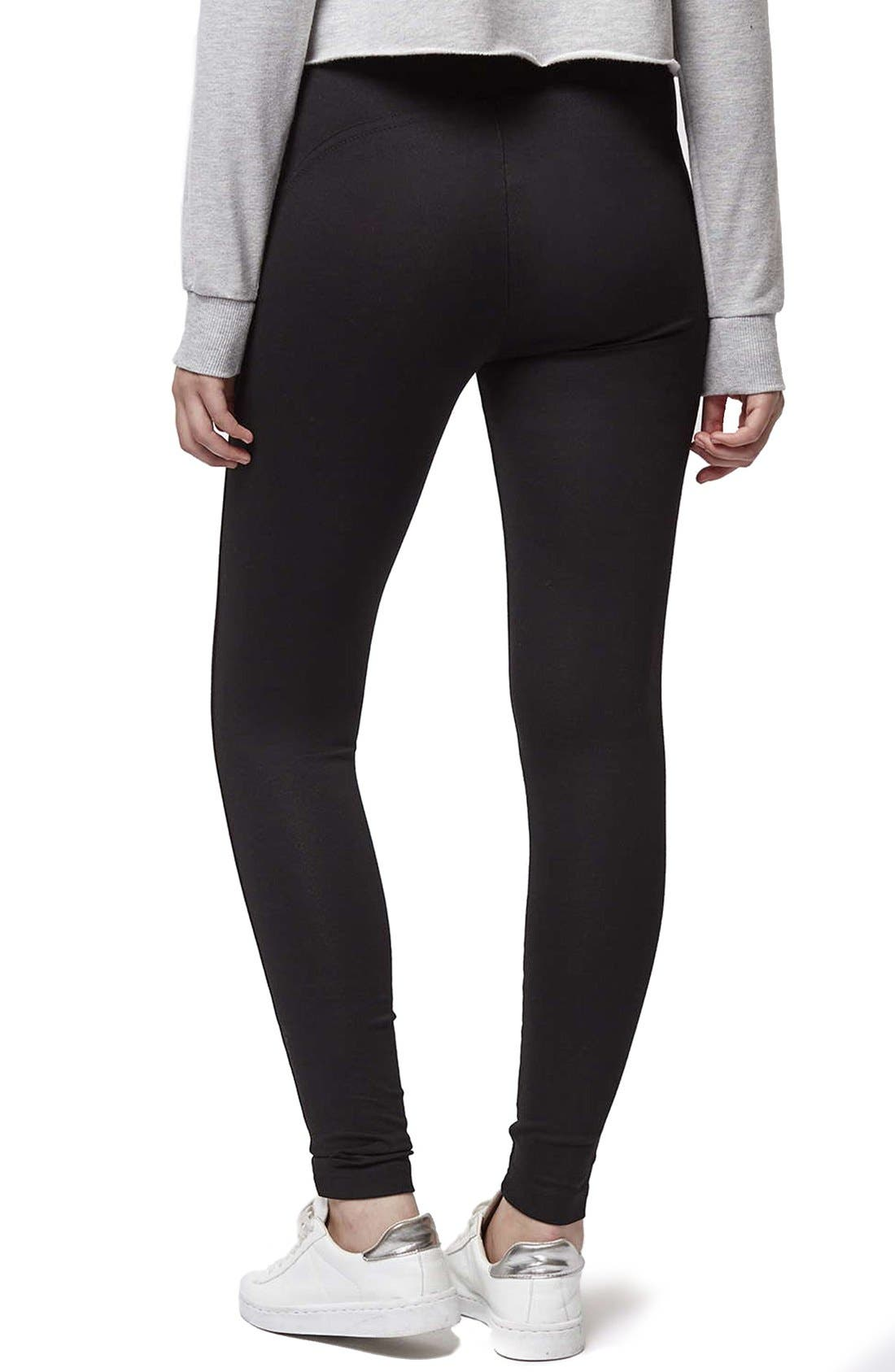Alternate Image 3  - Topshop Seamed Ponte Trouser Leggings