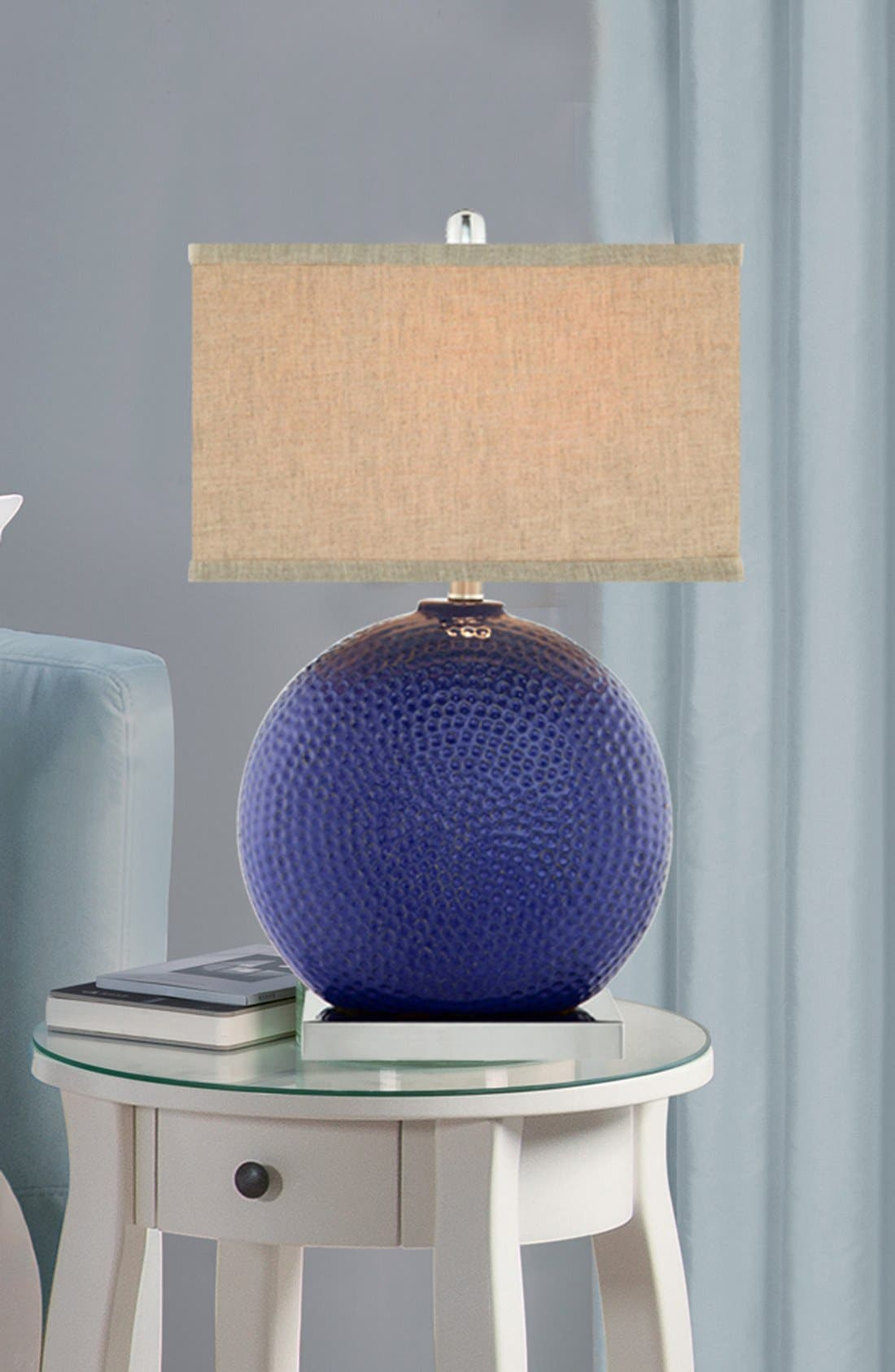 Alternate Image 2  - JAlexander Lighting Dimpled Ceramic Table Lamp
