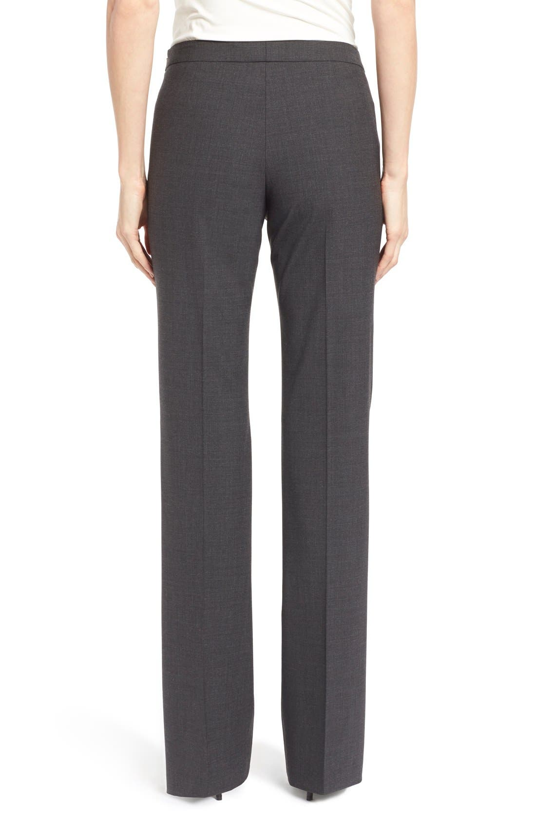 Alternate Image 2  - BOSS Tulea Bootcut Stretch Wool Suit Trousers (Regular & Petite)