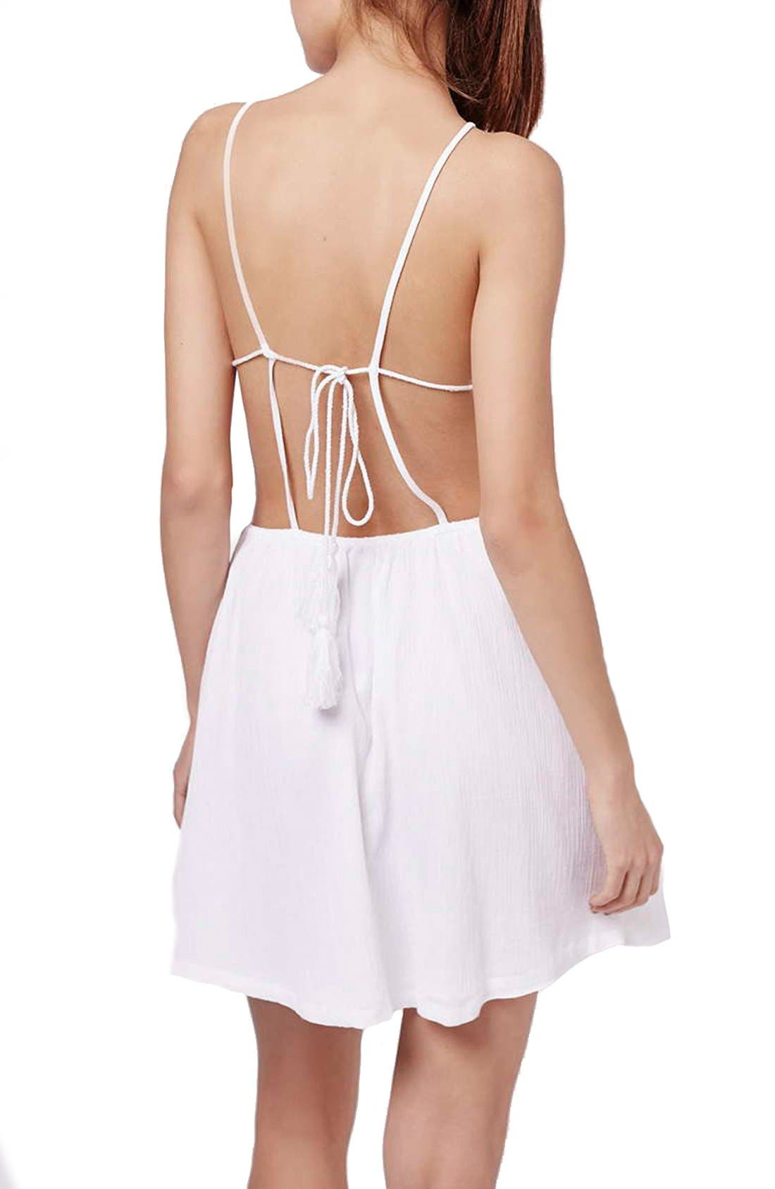 Alternate Image 2  - Topshop 'Claud' Embroidered Sleeveless Sundress Cover-Up