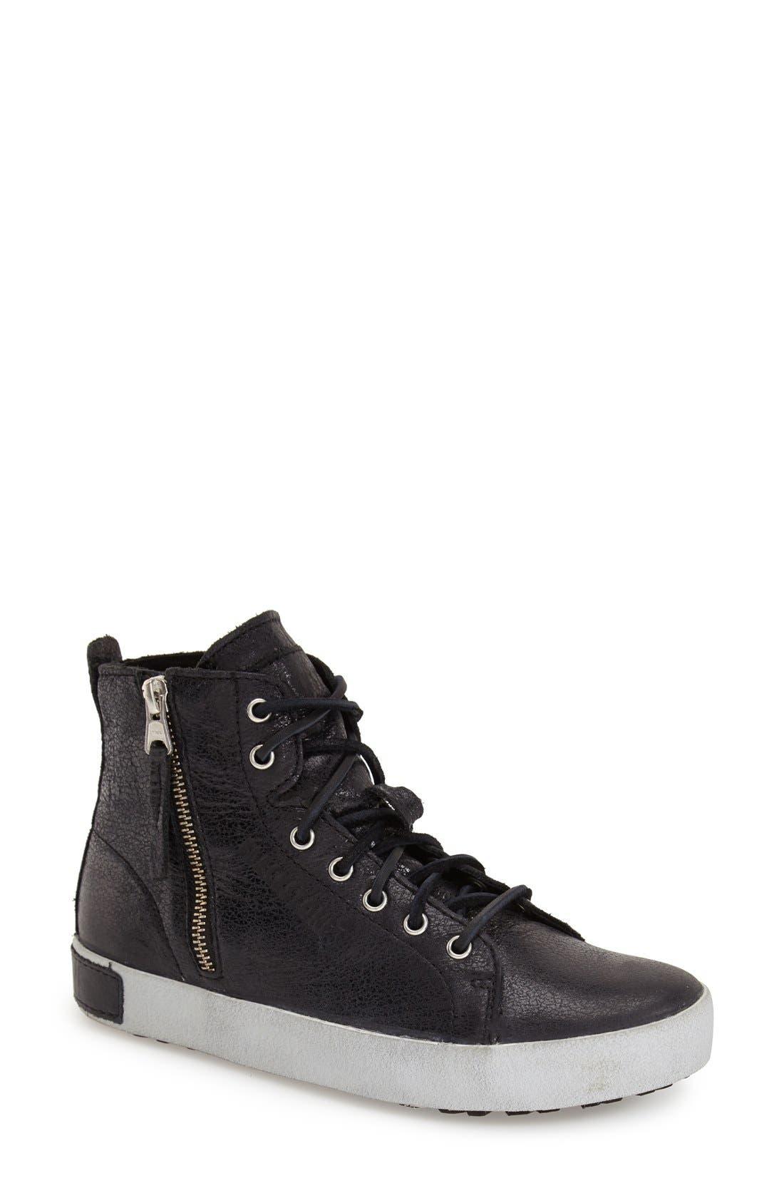 'KL57' High Top Sneaker,                             Main thumbnail 1, color,                             Caviar Black Leather