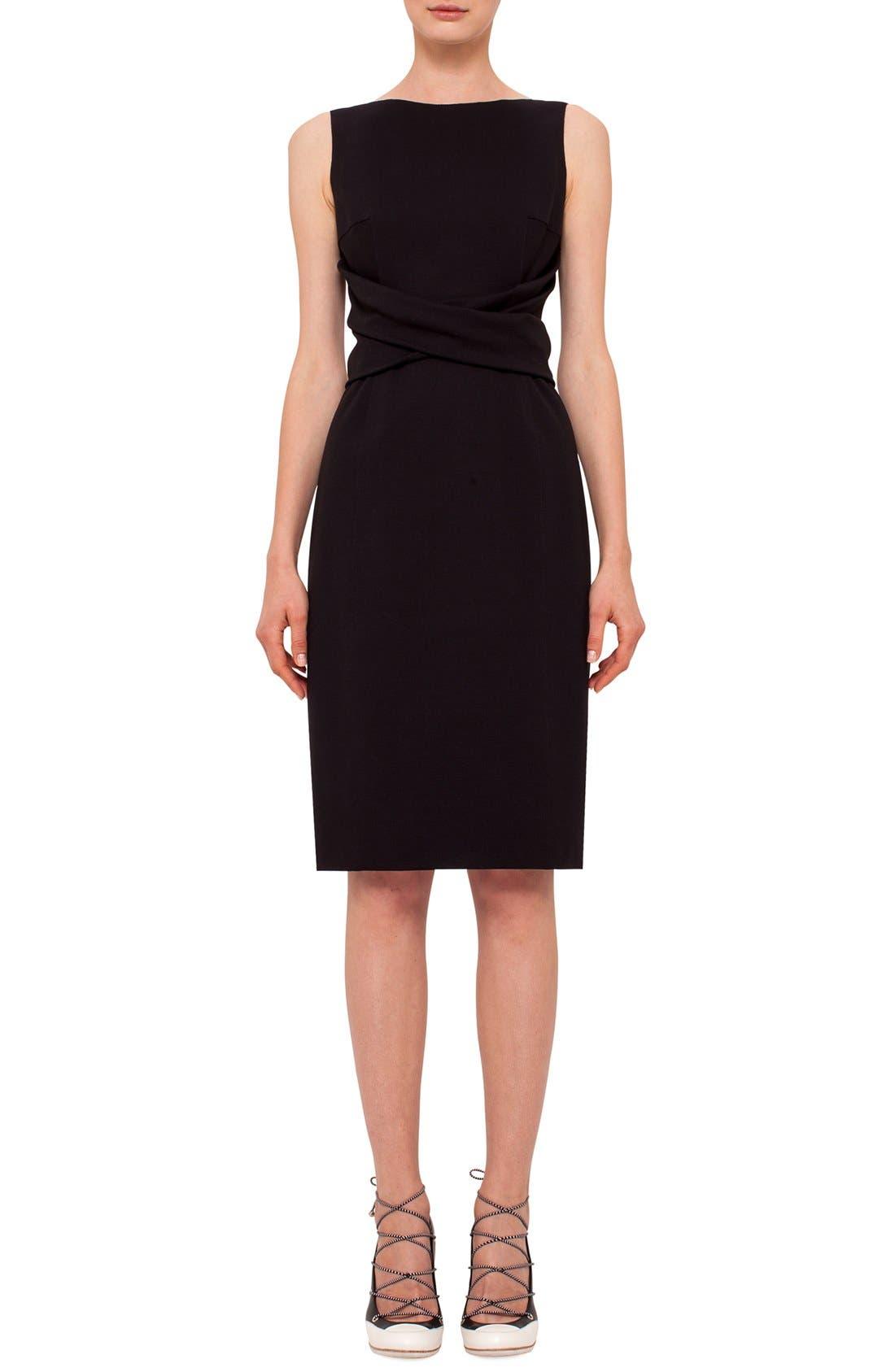 Main Image - Akris punto Twist Front Sleeveless Jersey Sheath Dress