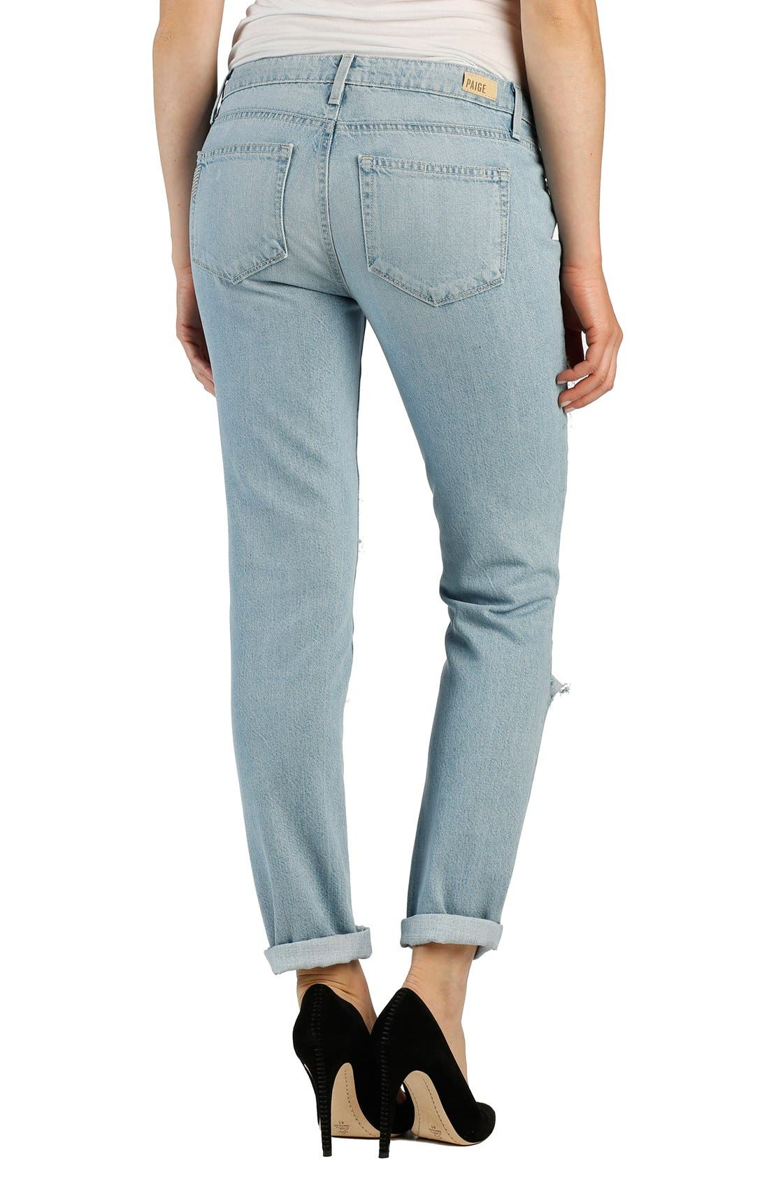 Alternate Image 2  - Paige Denim 'Jimmy Jimmy' Ripped & Repaired Boyfriend Jeans (Mayan Patch)