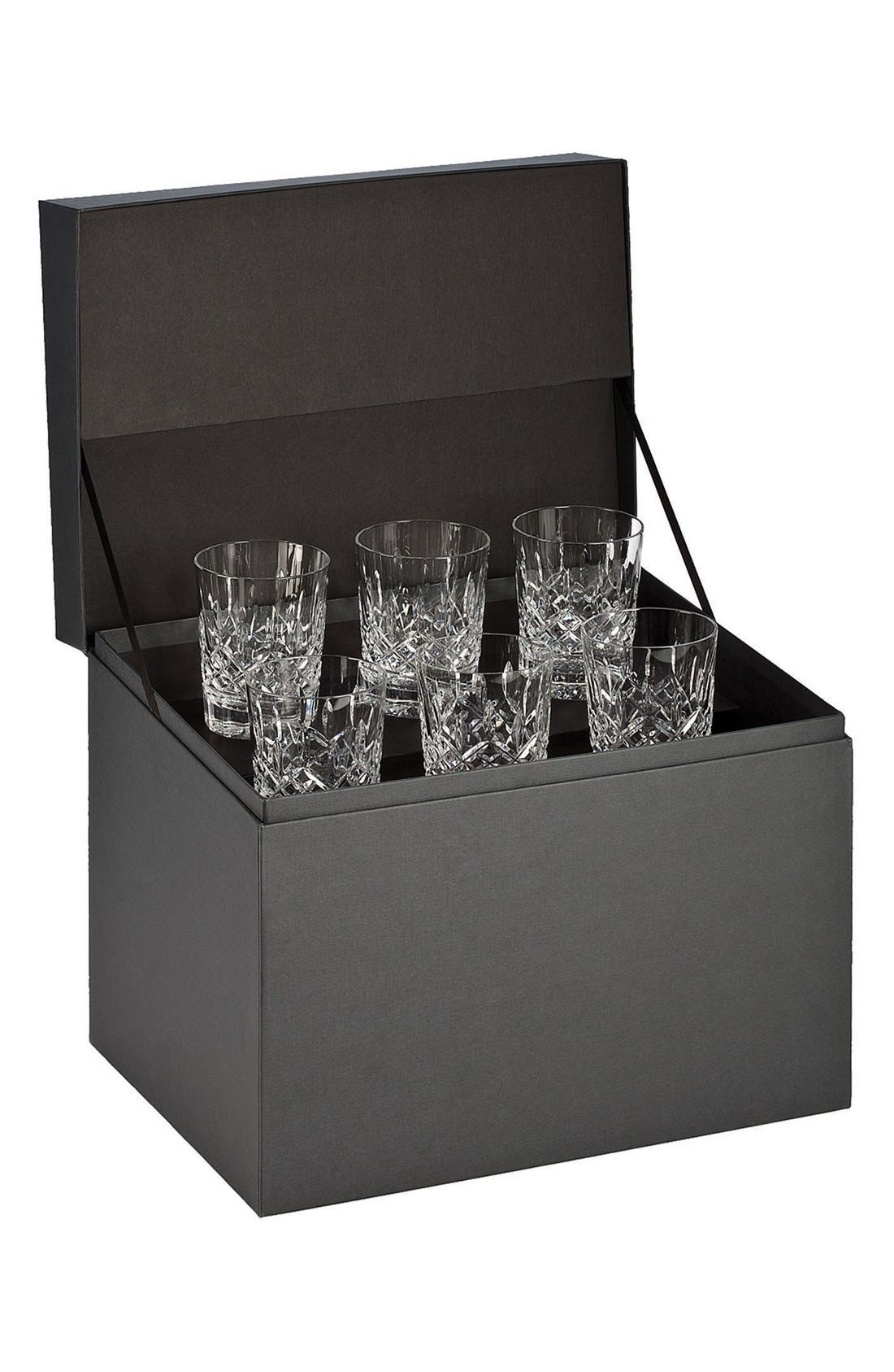 'Lismore' Lead Crystal Double Old Fashioned Glasses,                             Main thumbnail 1, color,                             Clear