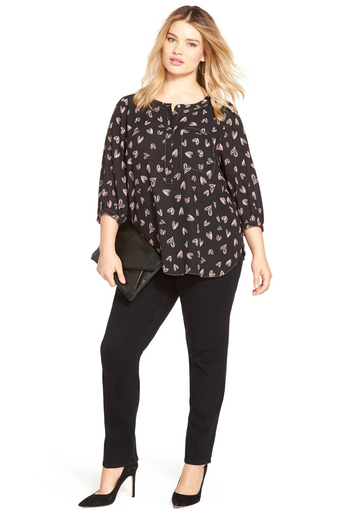 NYDJ Top & Straight Leg Jeans (Plus Size)