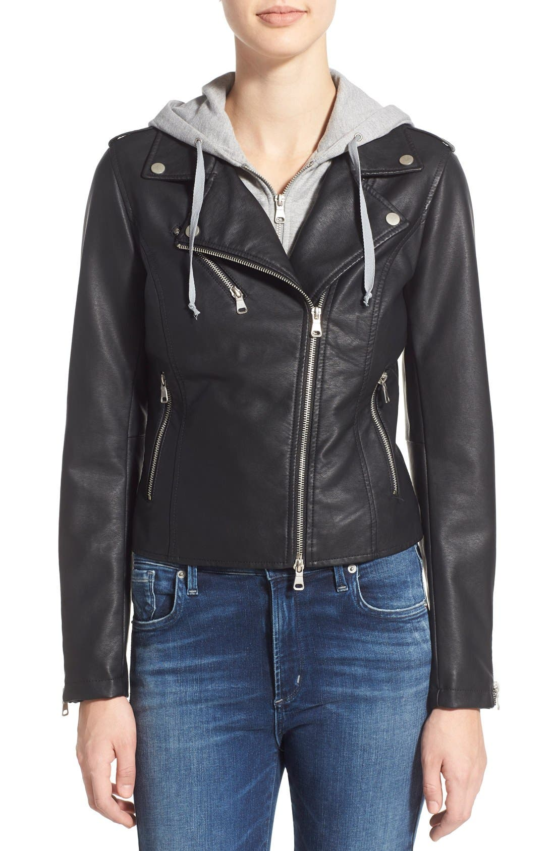 Alternate Image 4  - Thread & Supply 'Eclipse' Hooded Faux Leather Jacket