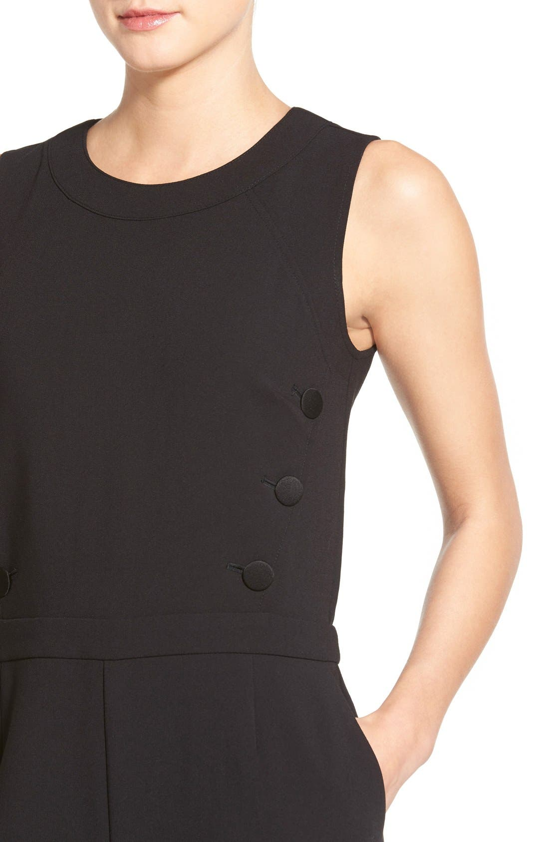 Alternate Image 4  - Halogen® Button Detail Jumpsuit (Regular & Petite)